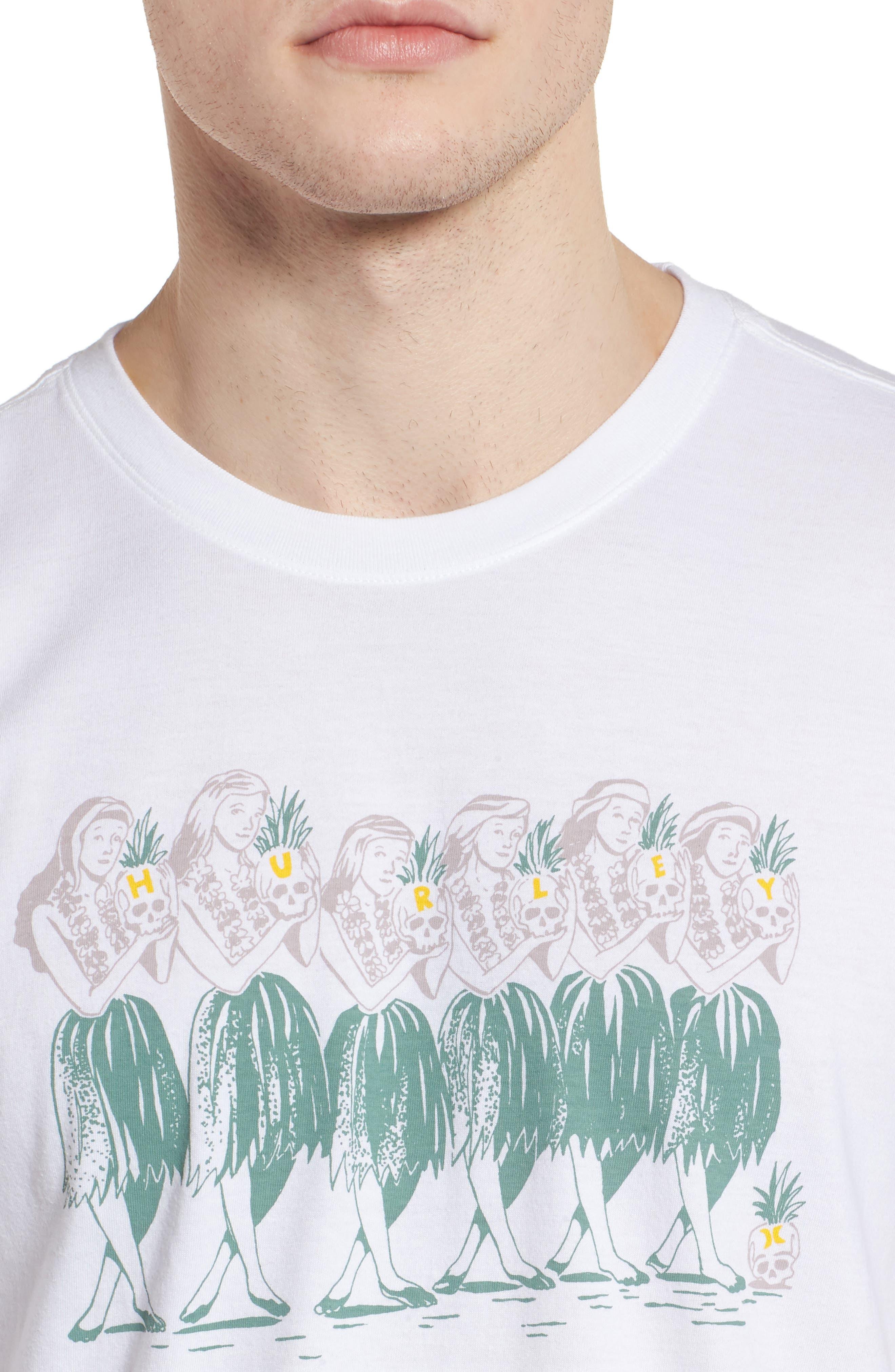 Hula T-Shirt,                             Alternate thumbnail 4, color,                             WHITE