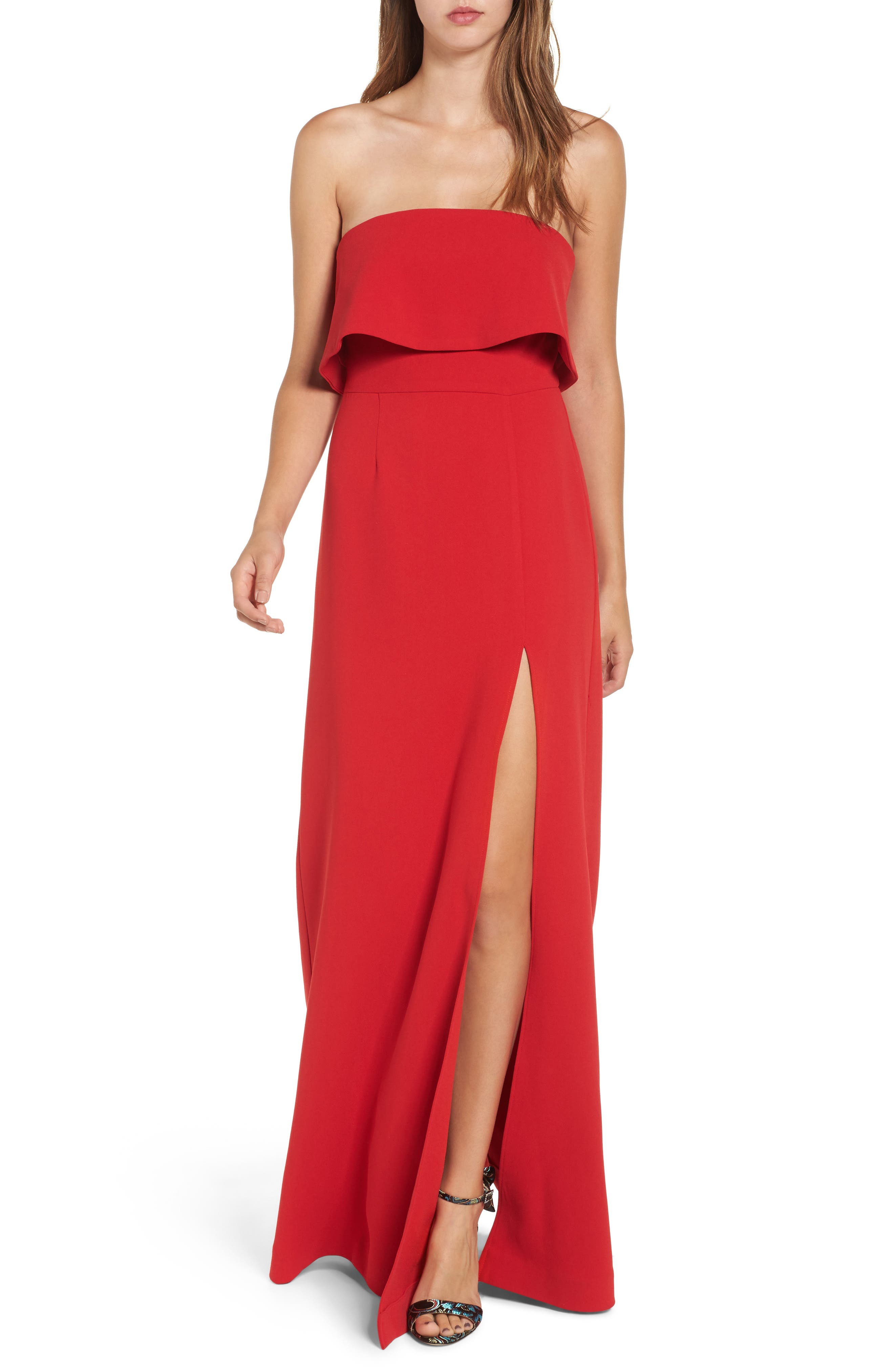 Lovers & Friends Anzen Strapless Gown, Main, color, 600