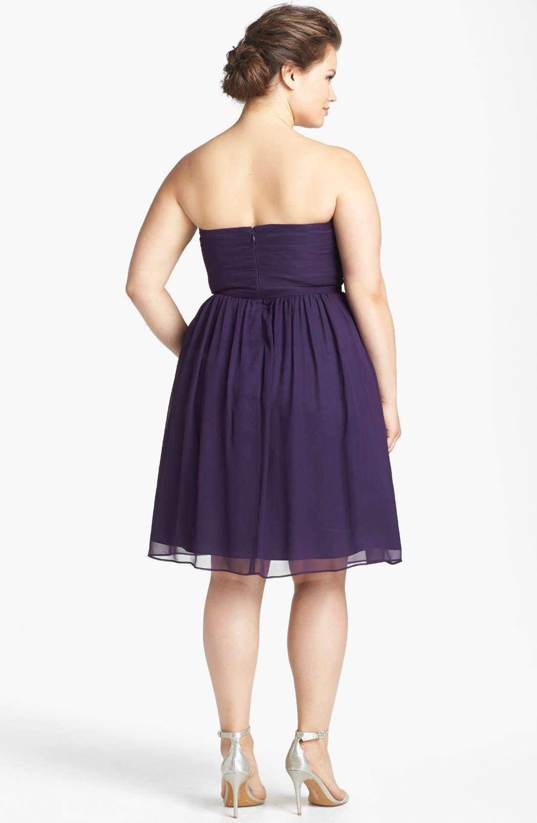 'Morgan' Strapless Silk Chiffon Dress,                             Alternate thumbnail 89, color,