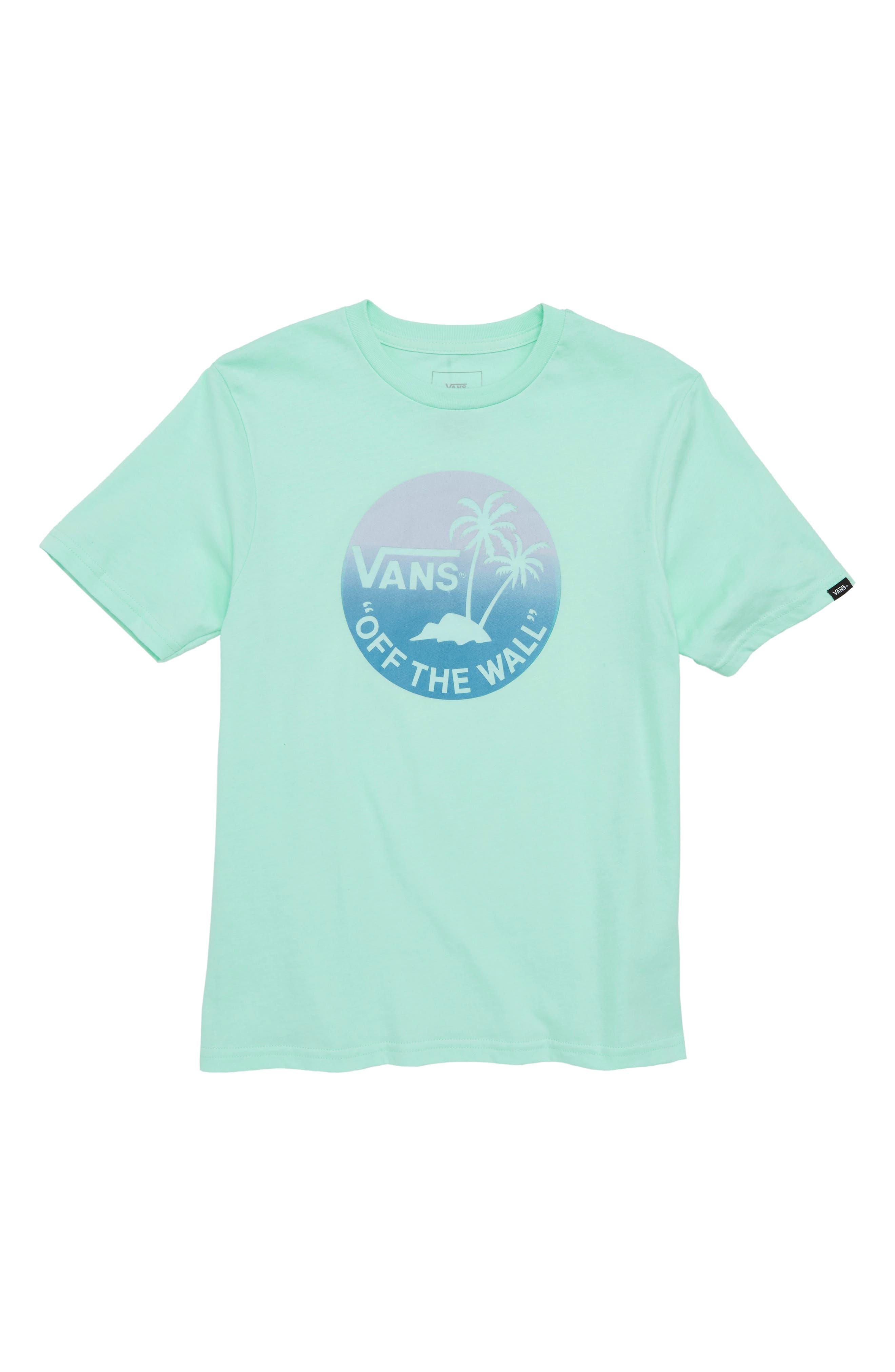Dual Palm Gradient Graphic T-Shirt,                             Main thumbnail 3, color,