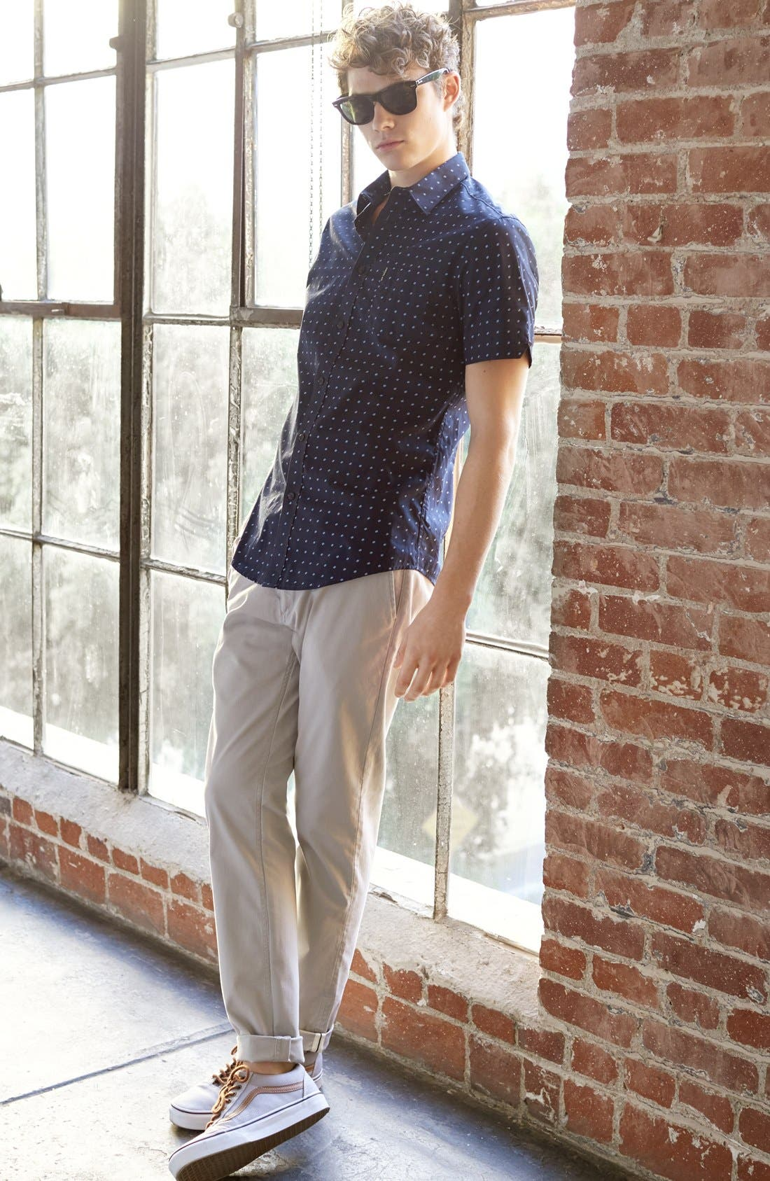 Slim Fit Stretch Chinos,                             Alternate thumbnail 7, color,                             270