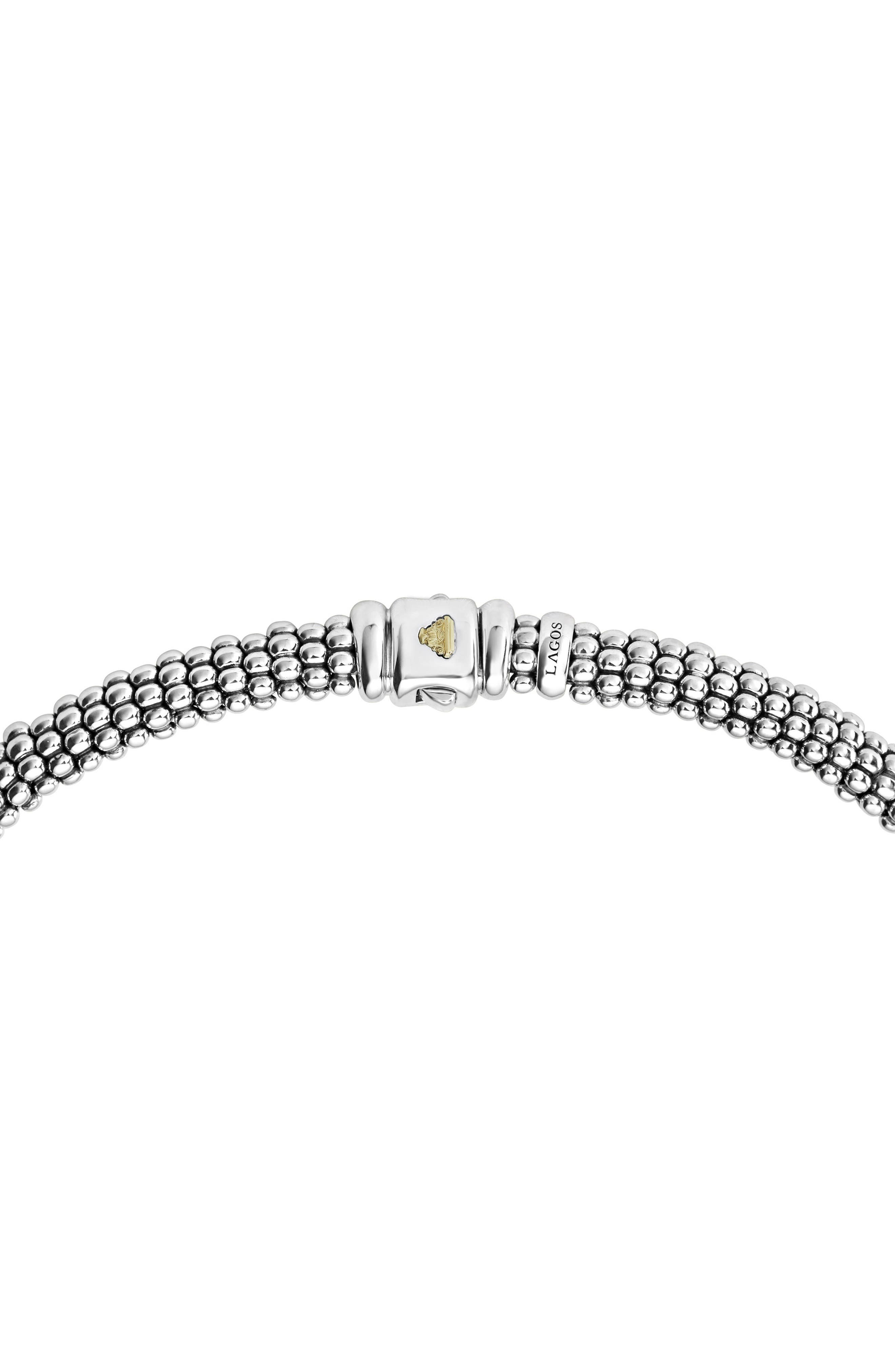 Diamond Lux Station Collar Necklace,                             Alternate thumbnail 3, color,                             SILVER/ DIAMOND
