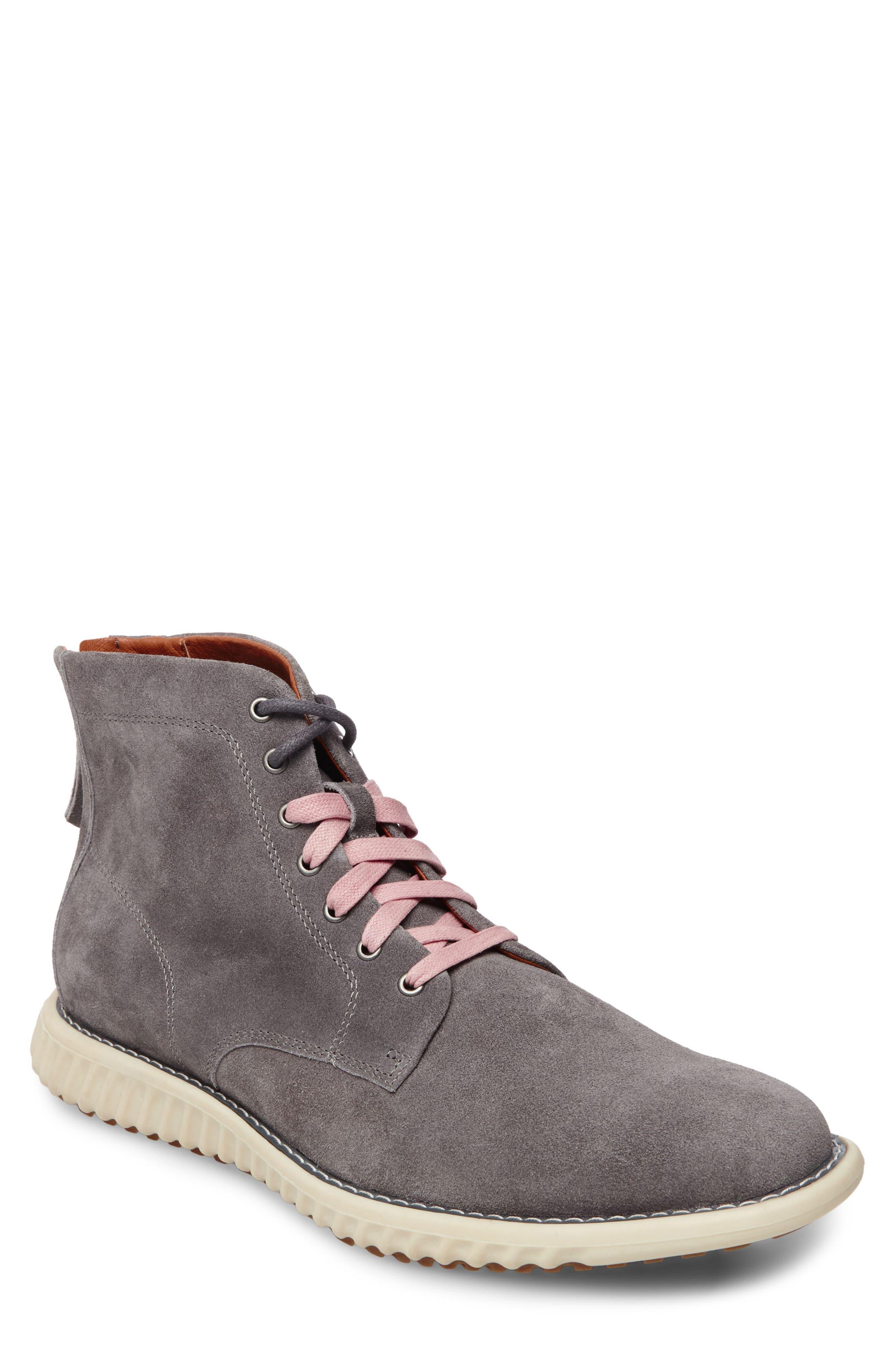 Verner Suede Plain Toe Boot,                         Main,                         color, DARK GREY SUEDE