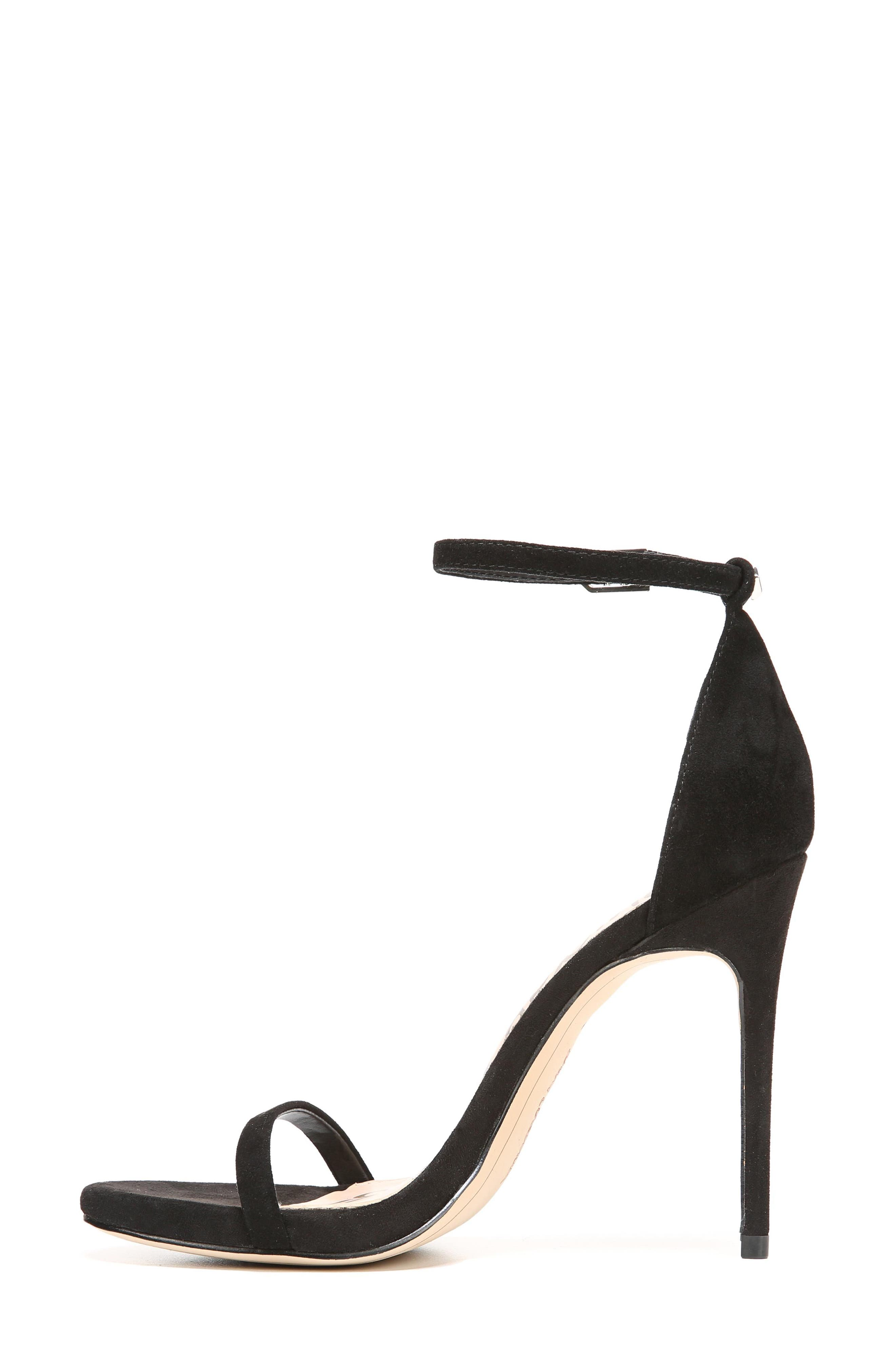 Ariella Ankle Strap Sandal,                             Alternate thumbnail 3, color,                             BLACK SUEDE
