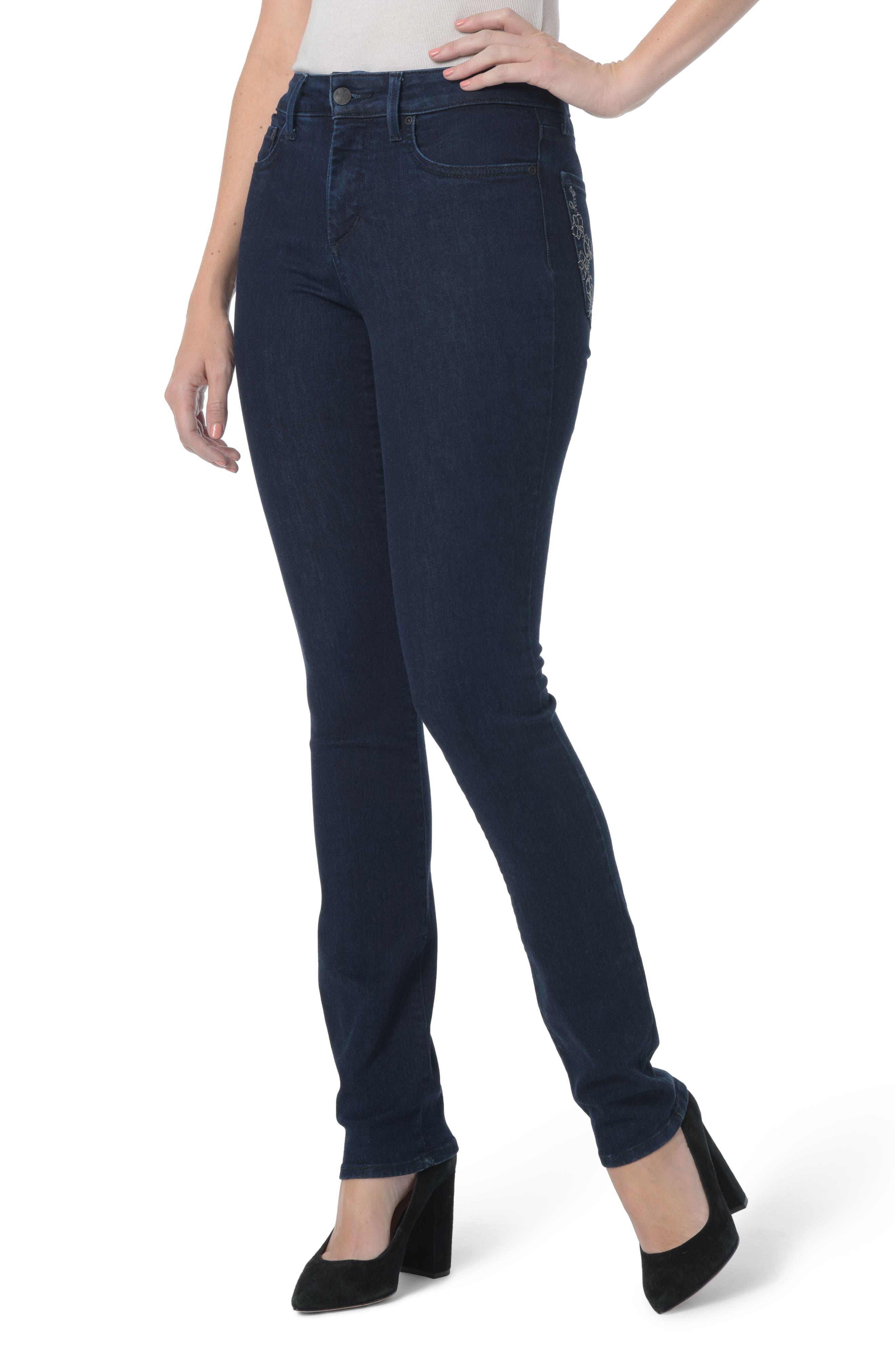 Sheri Floral Bling Stretch Slim Jeans,                             Main thumbnail 1, color,                             408