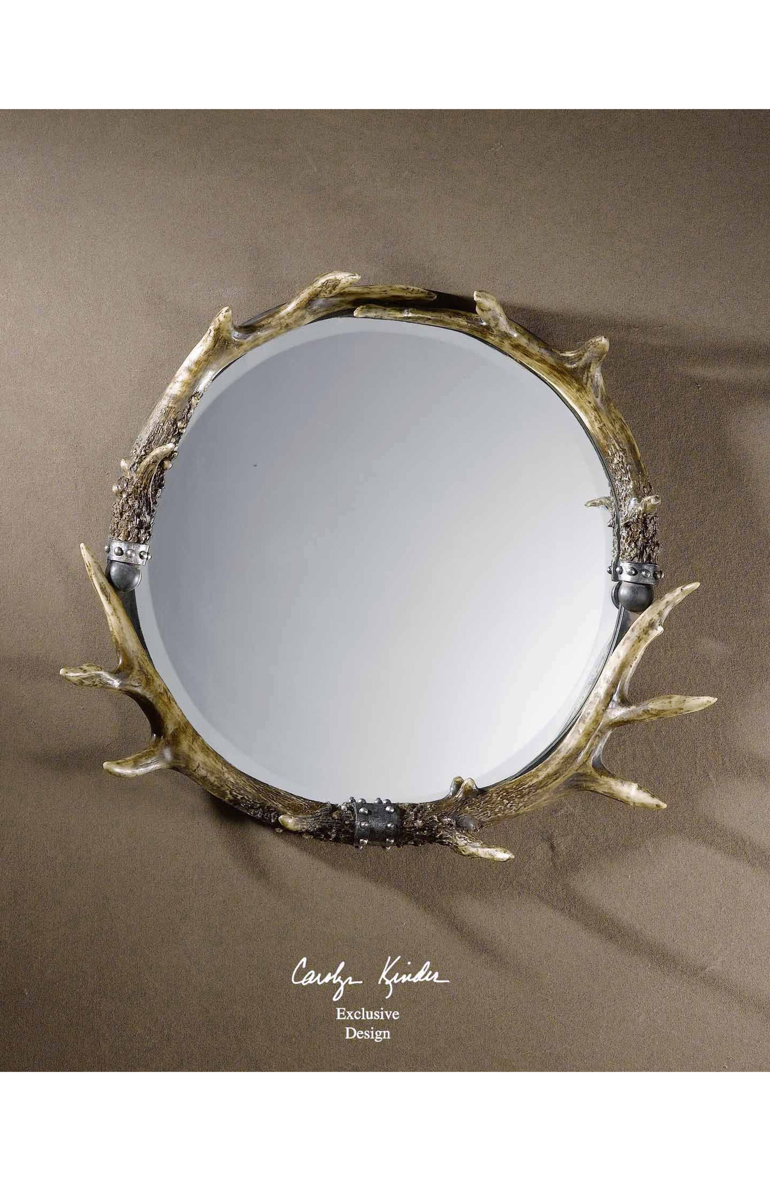 Stag Horn Wall Mirror,                             Alternate thumbnail 2, color,                             200