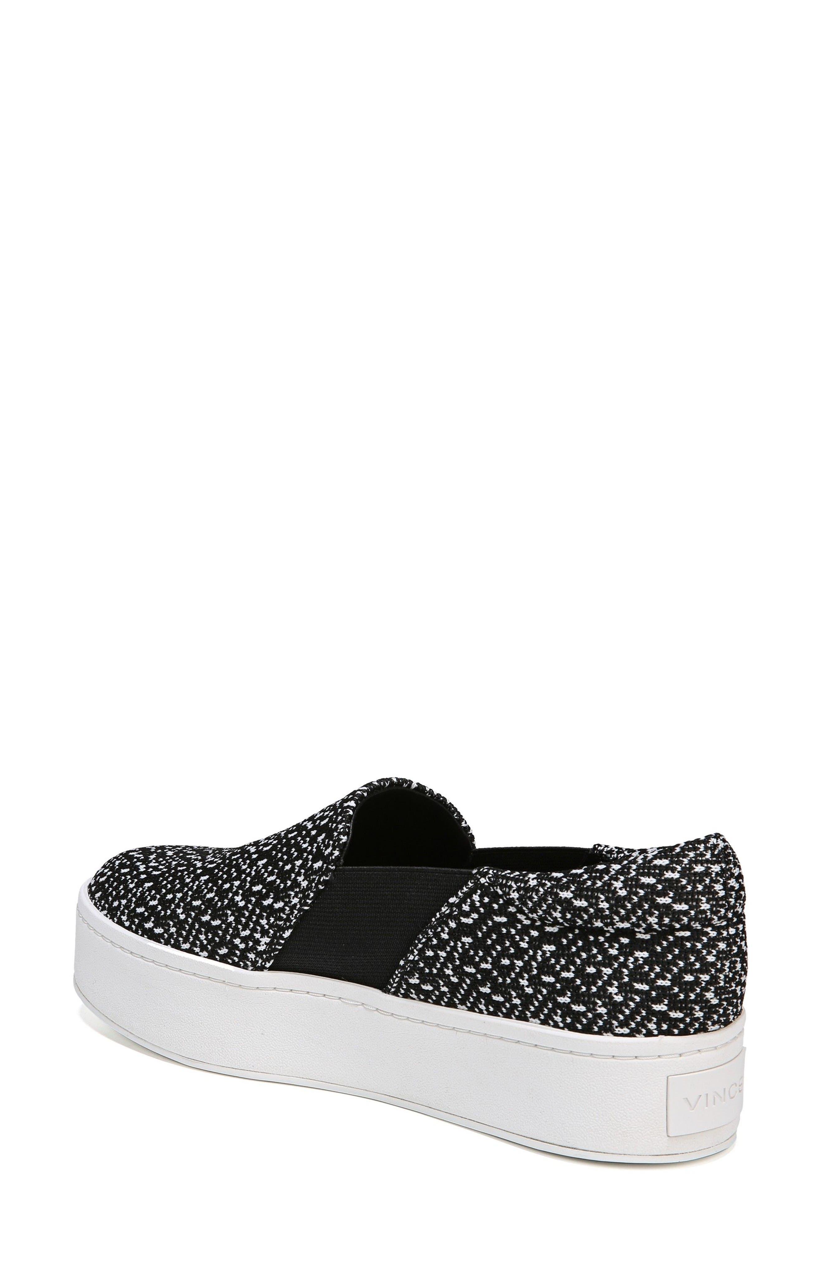 Warren Slip-On Sneaker,                             Alternate thumbnail 2, color,                             BLACK/ WHITE