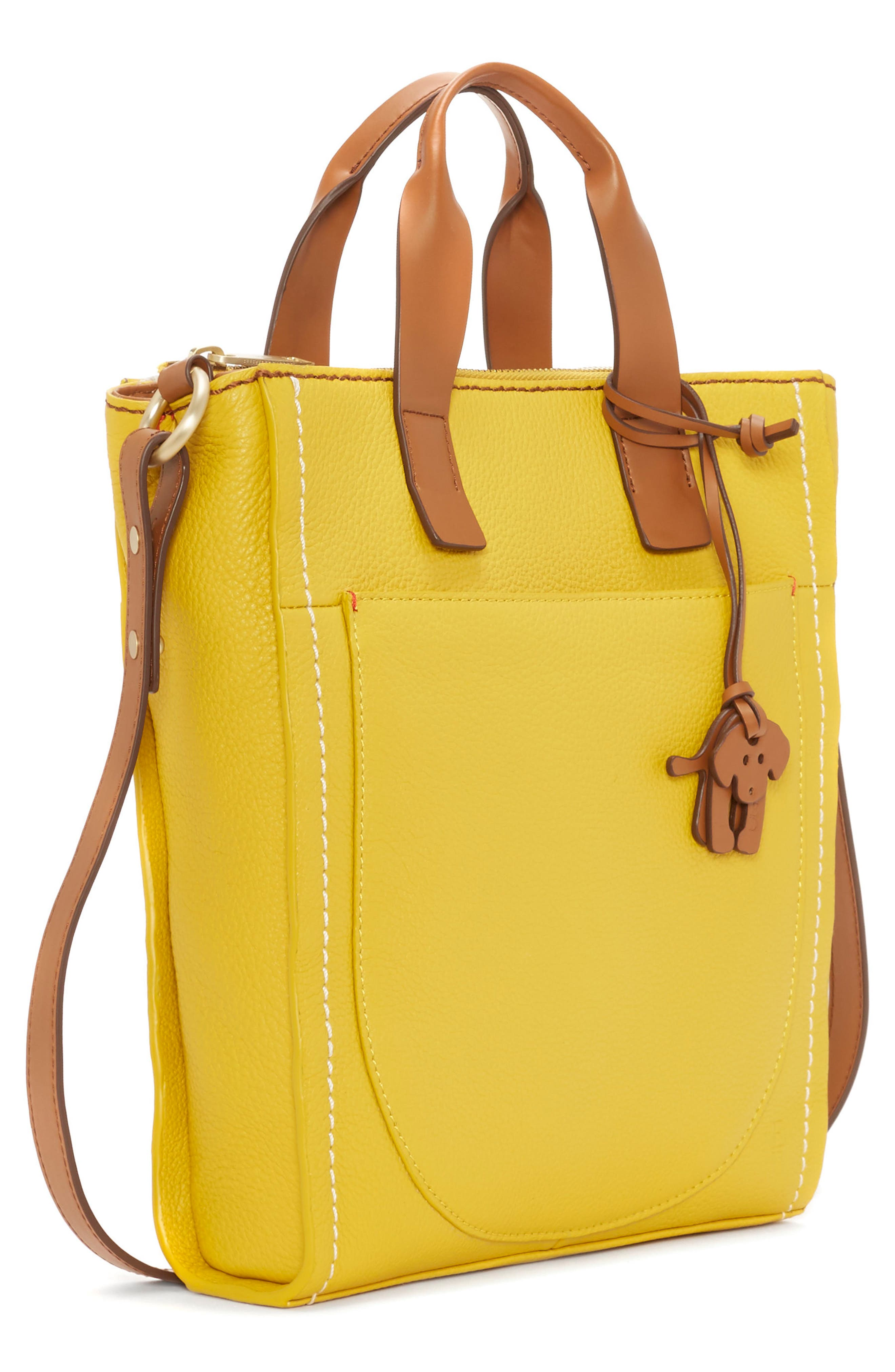 ED ELLEN DEGENERES,                             Small Baja Leather Tote,                             Alternate thumbnail 4, color,                             701