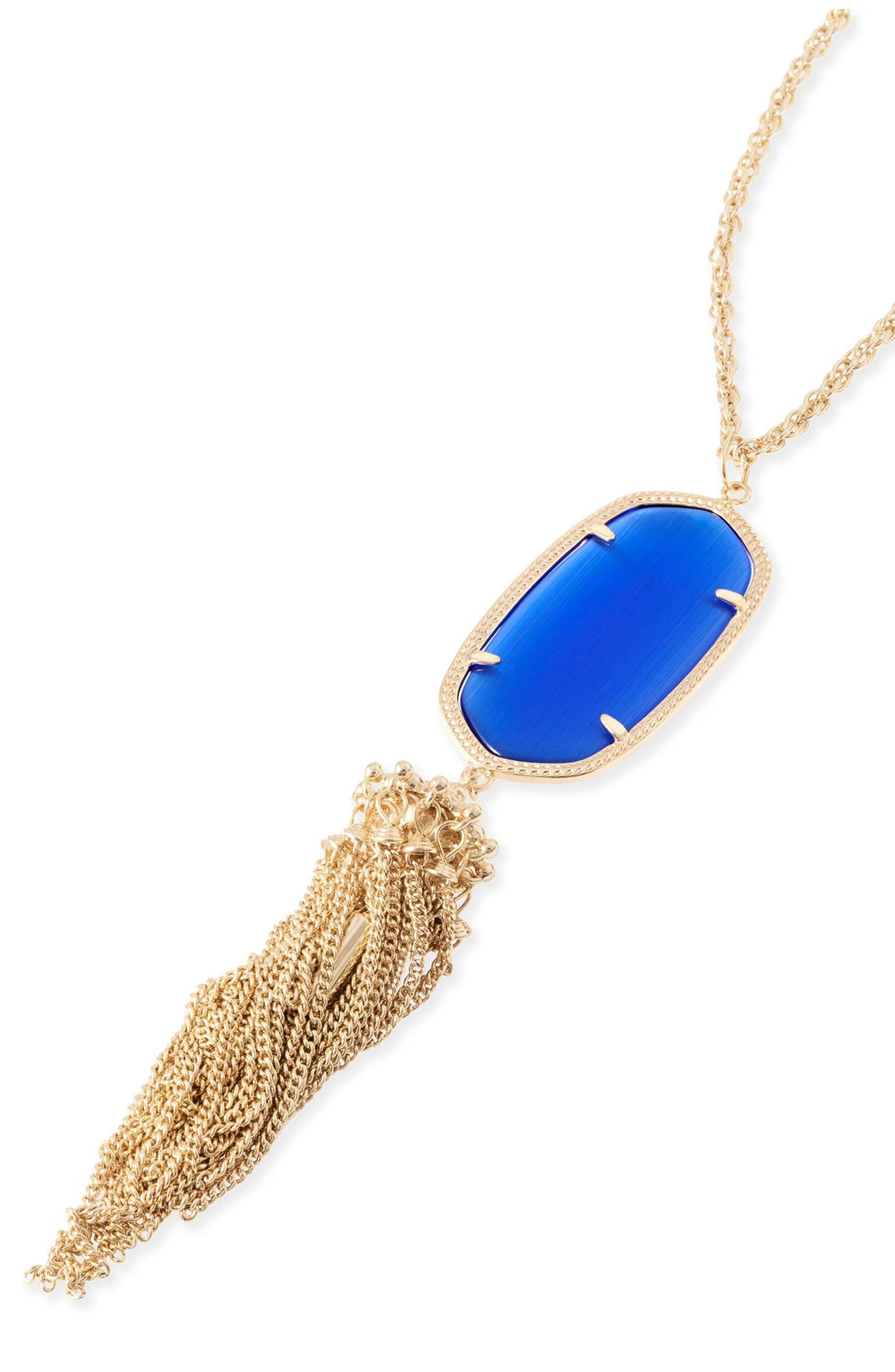 Rayne Stone Tassel Pendant Necklace,                             Alternate thumbnail 88, color,