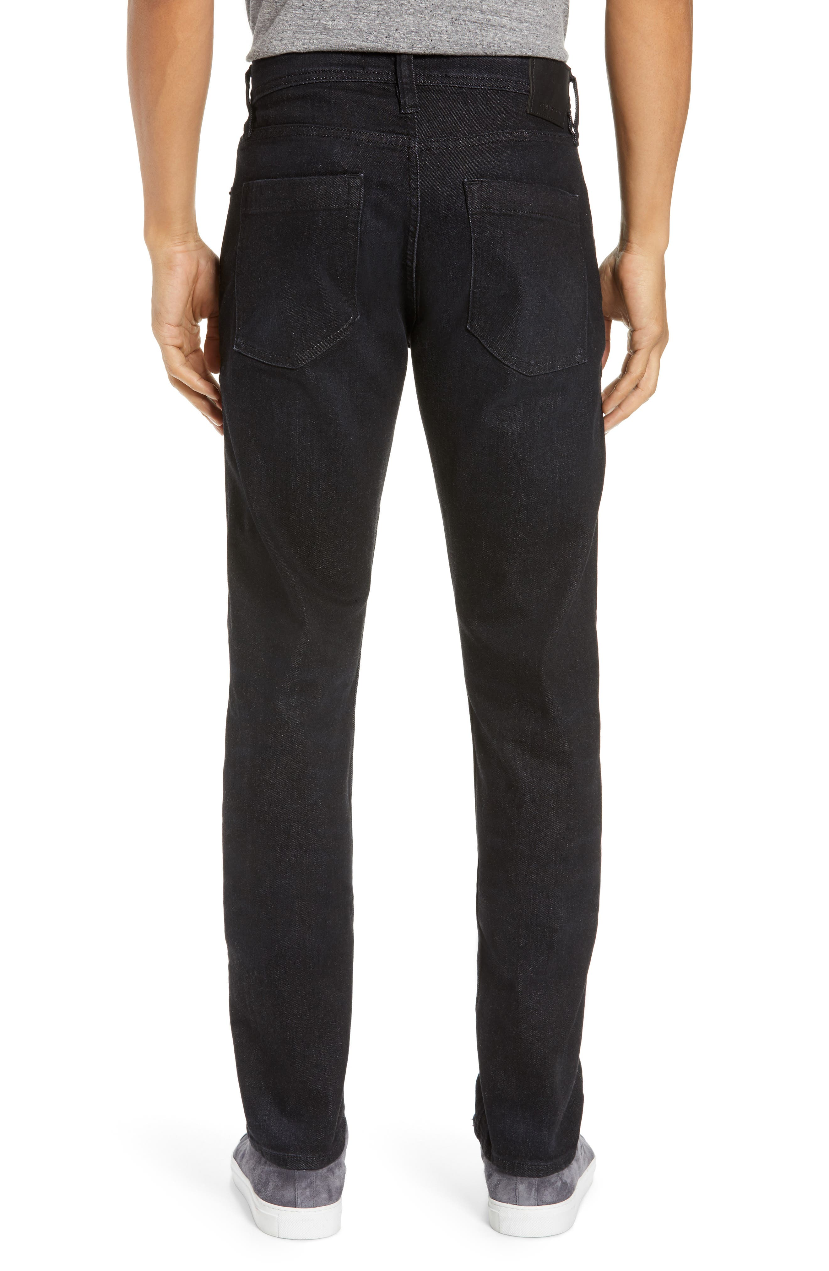 REVTOWN,                             Sharp Slim Fit Jeans,                             Alternate thumbnail 2, color,                             COAL BLACK