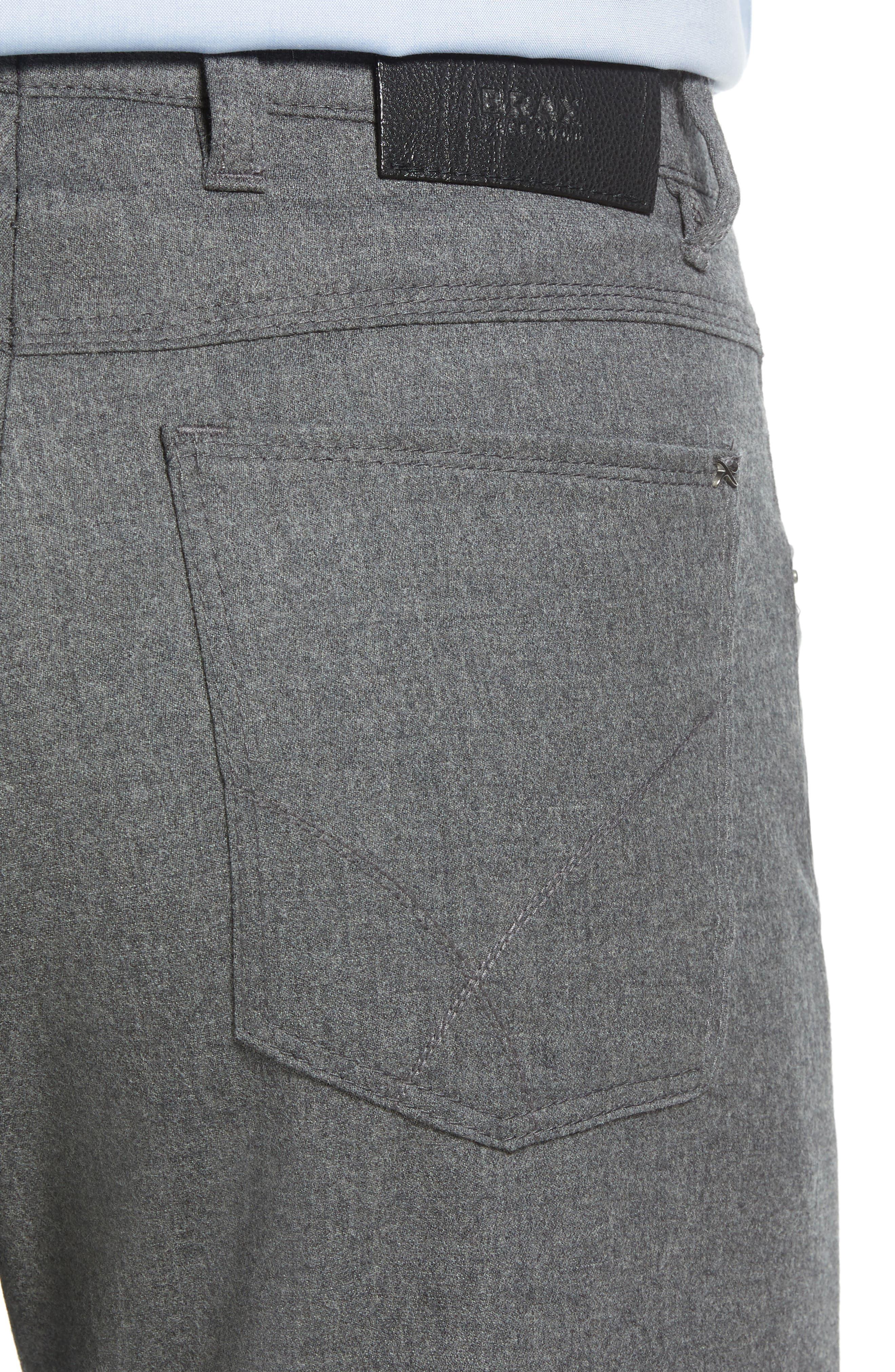 Enrico Five-Pocket Stretch Wool Trousers,                             Alternate thumbnail 4, color,                             GRAPHITE