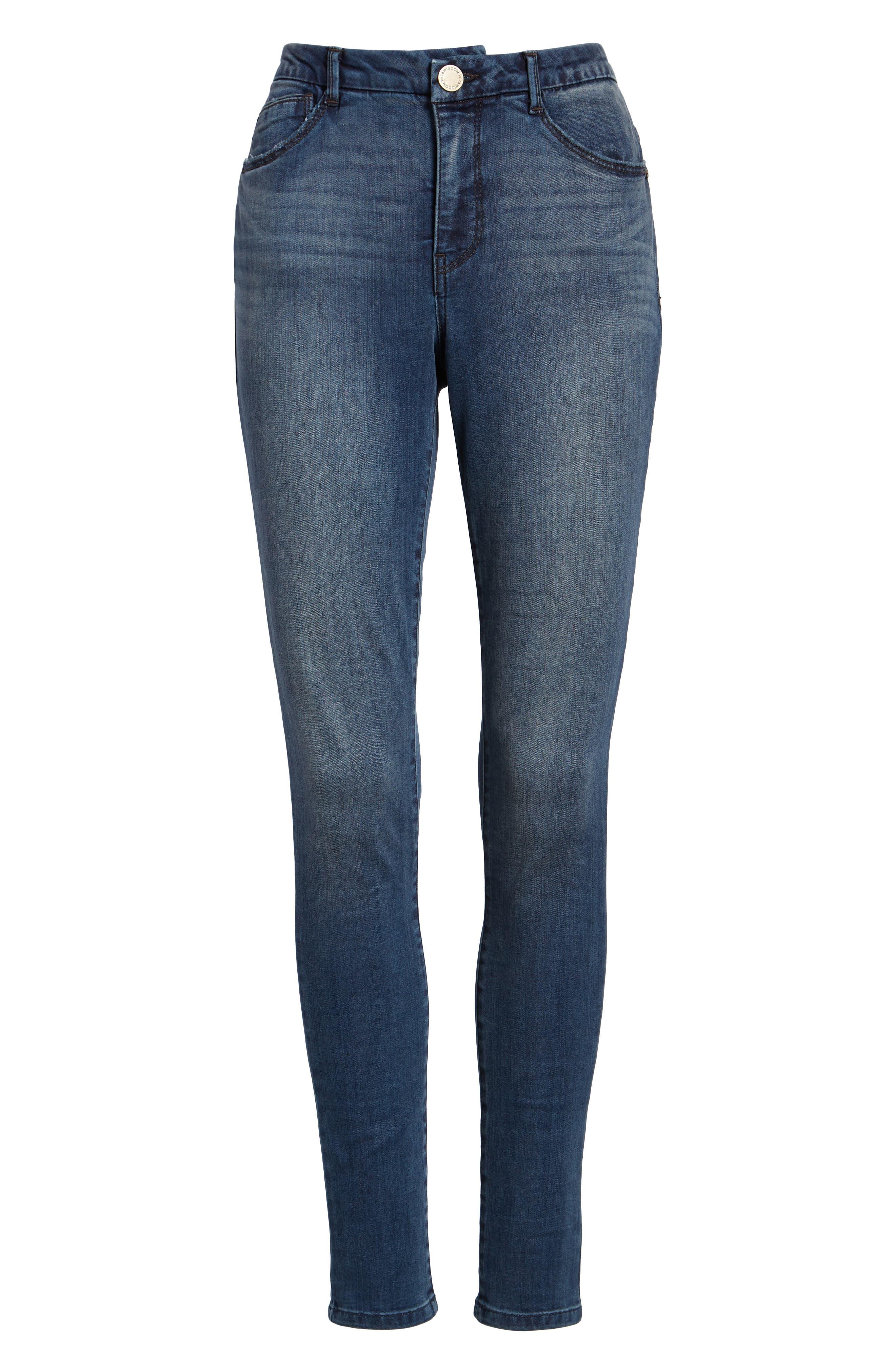 Ab-Solution High Waist Skinny Jeans,                             Alternate thumbnail 7, color,                             420