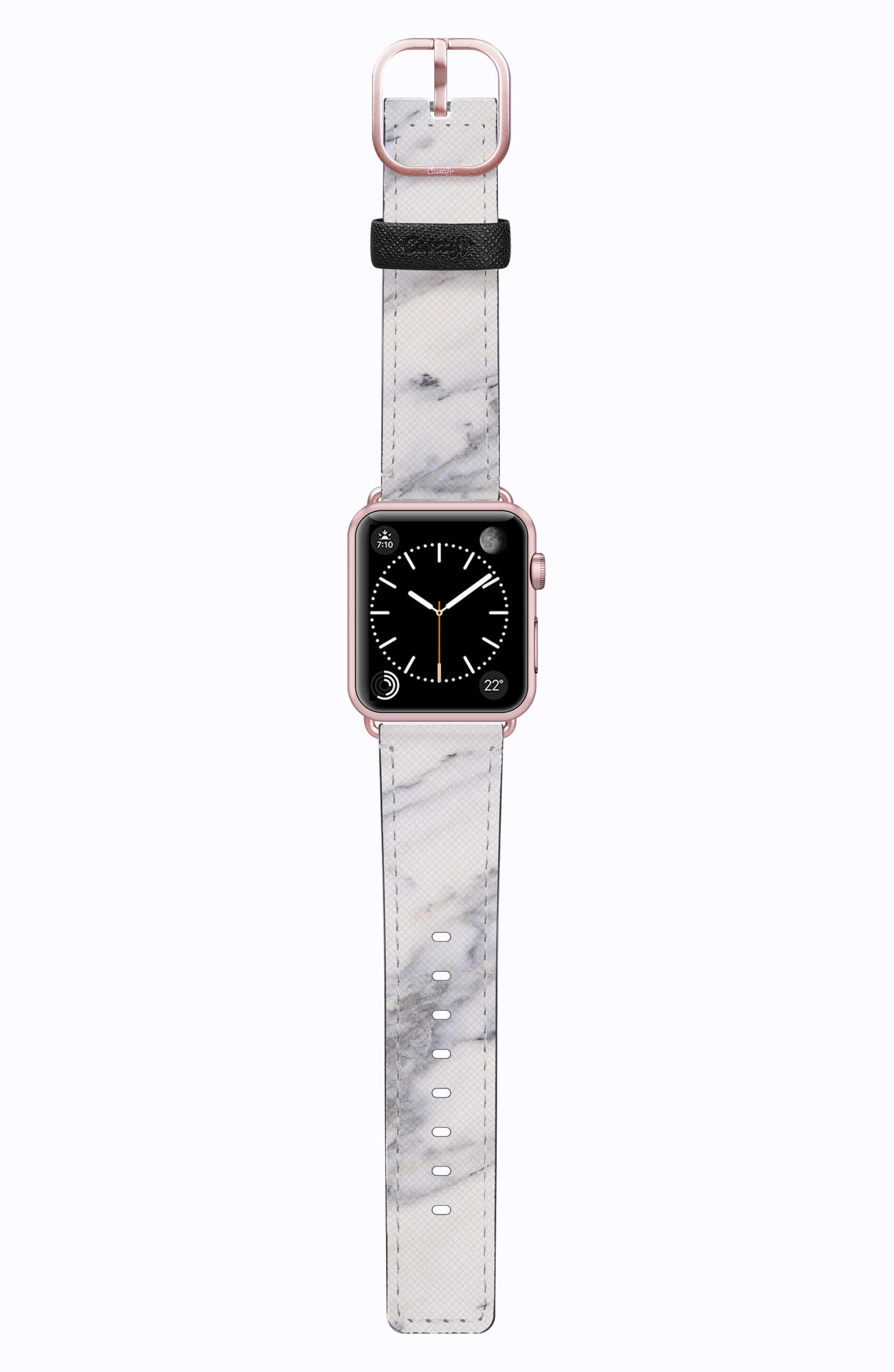 Saffiano Faux Leather Apple Watch Strap,                             Main thumbnail 4, color,