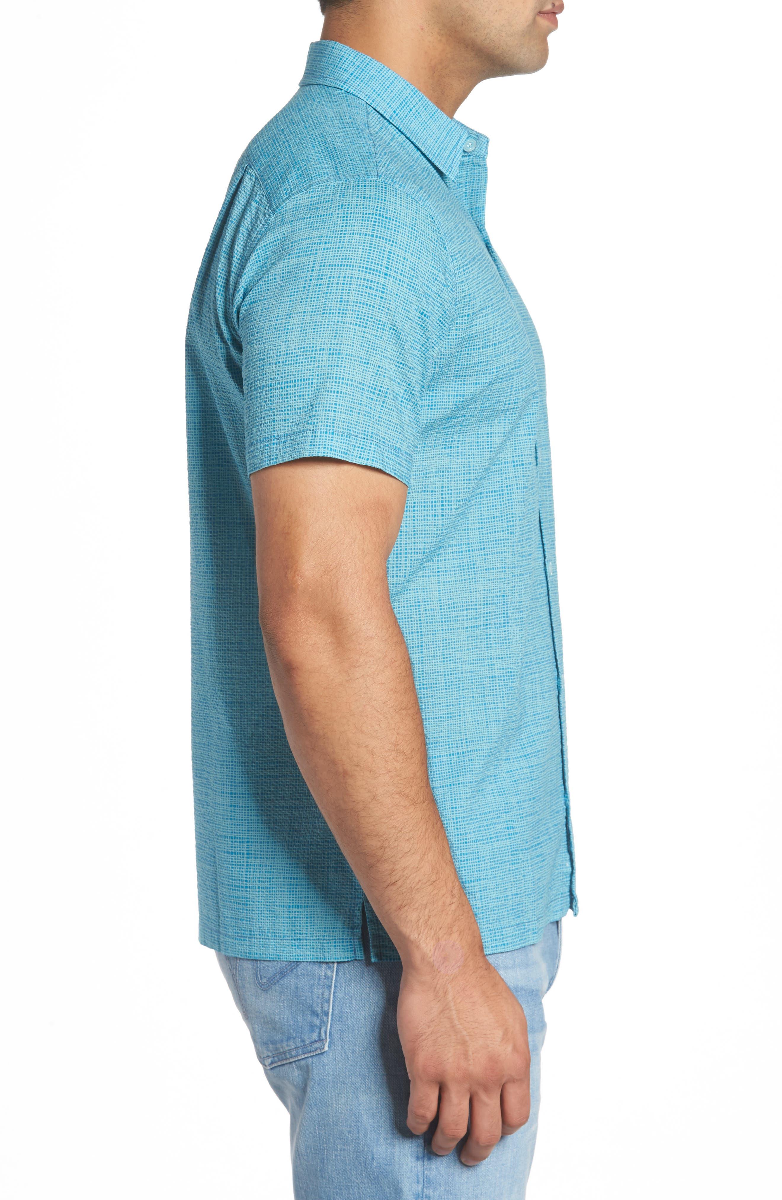 Net Worth Slim Fit Camp Shirt,                             Alternate thumbnail 3, color,                             400