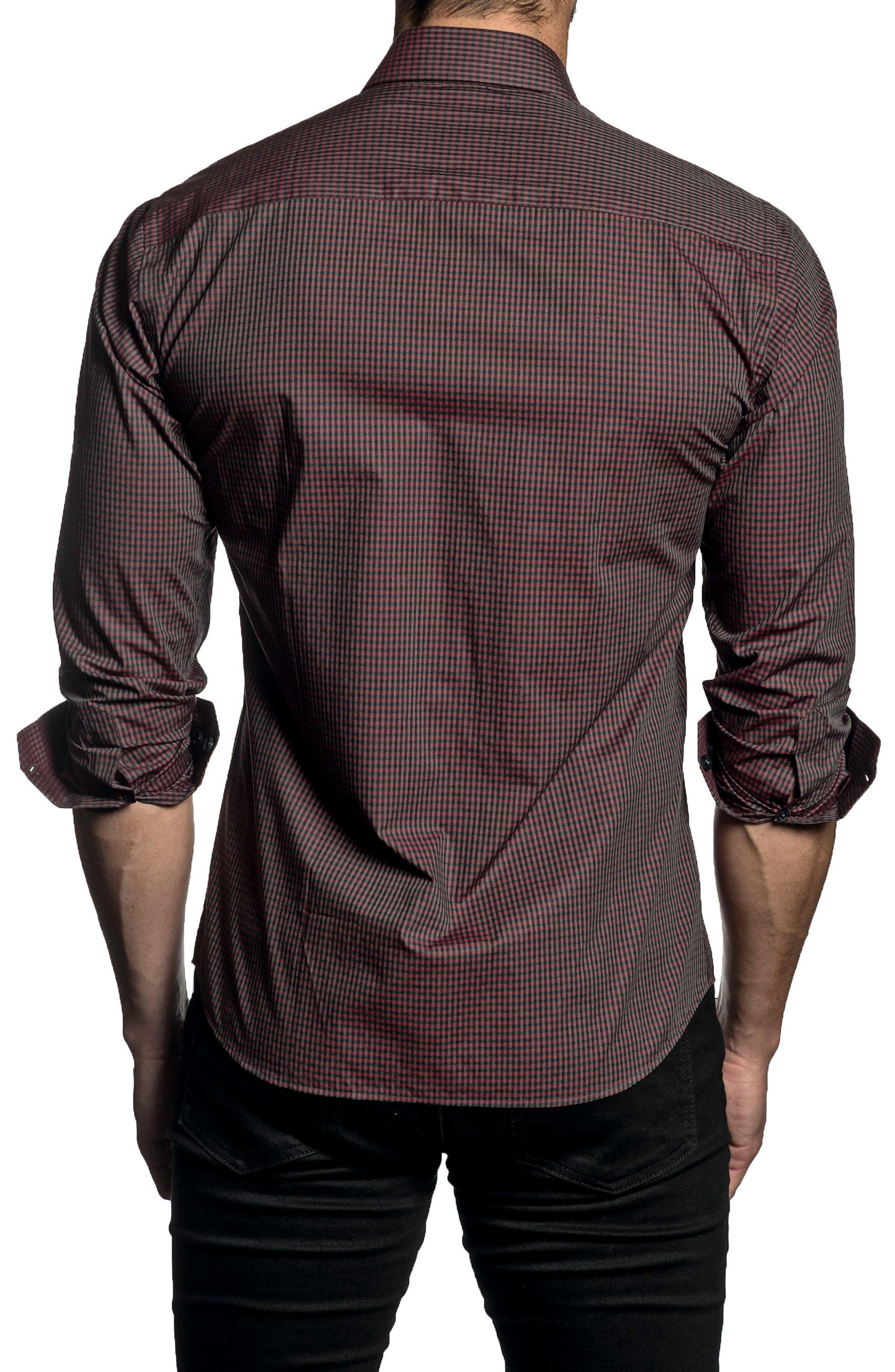 Trim Fit Check Sport Shirt,                             Alternate thumbnail 2, color,                             600