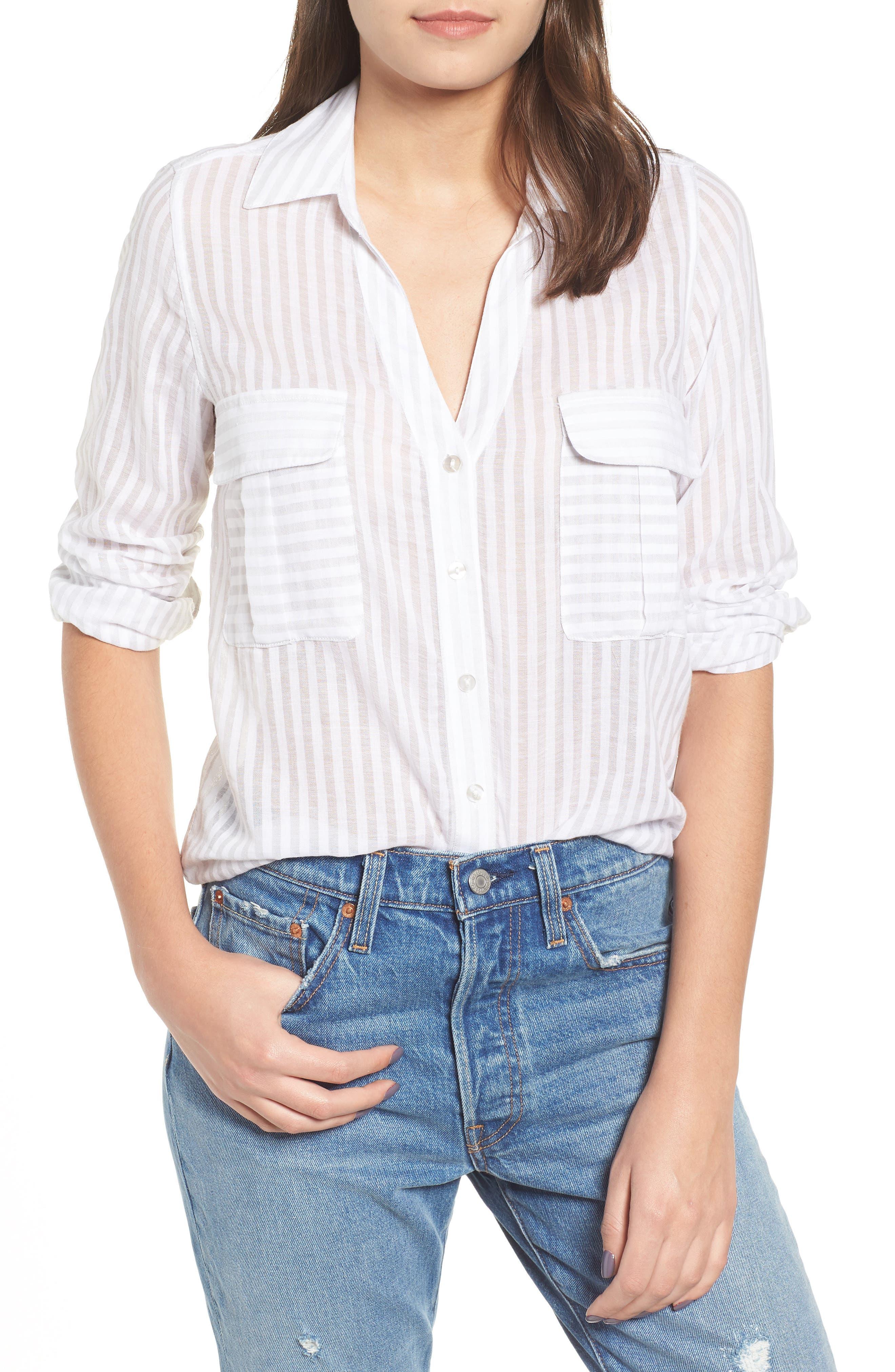 Shadow Stripe Shirt,                             Main thumbnail 1, color,                             025