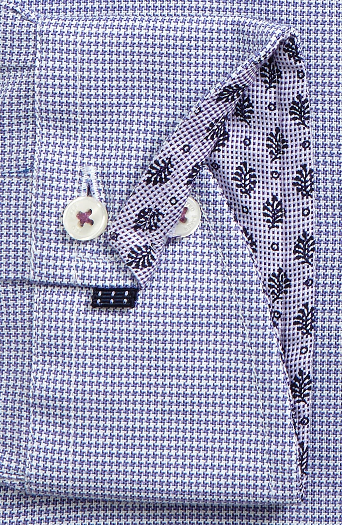 Endurance Renton Trim Fit Dress Shirt,                             Alternate thumbnail 2, color,                             PURPLE