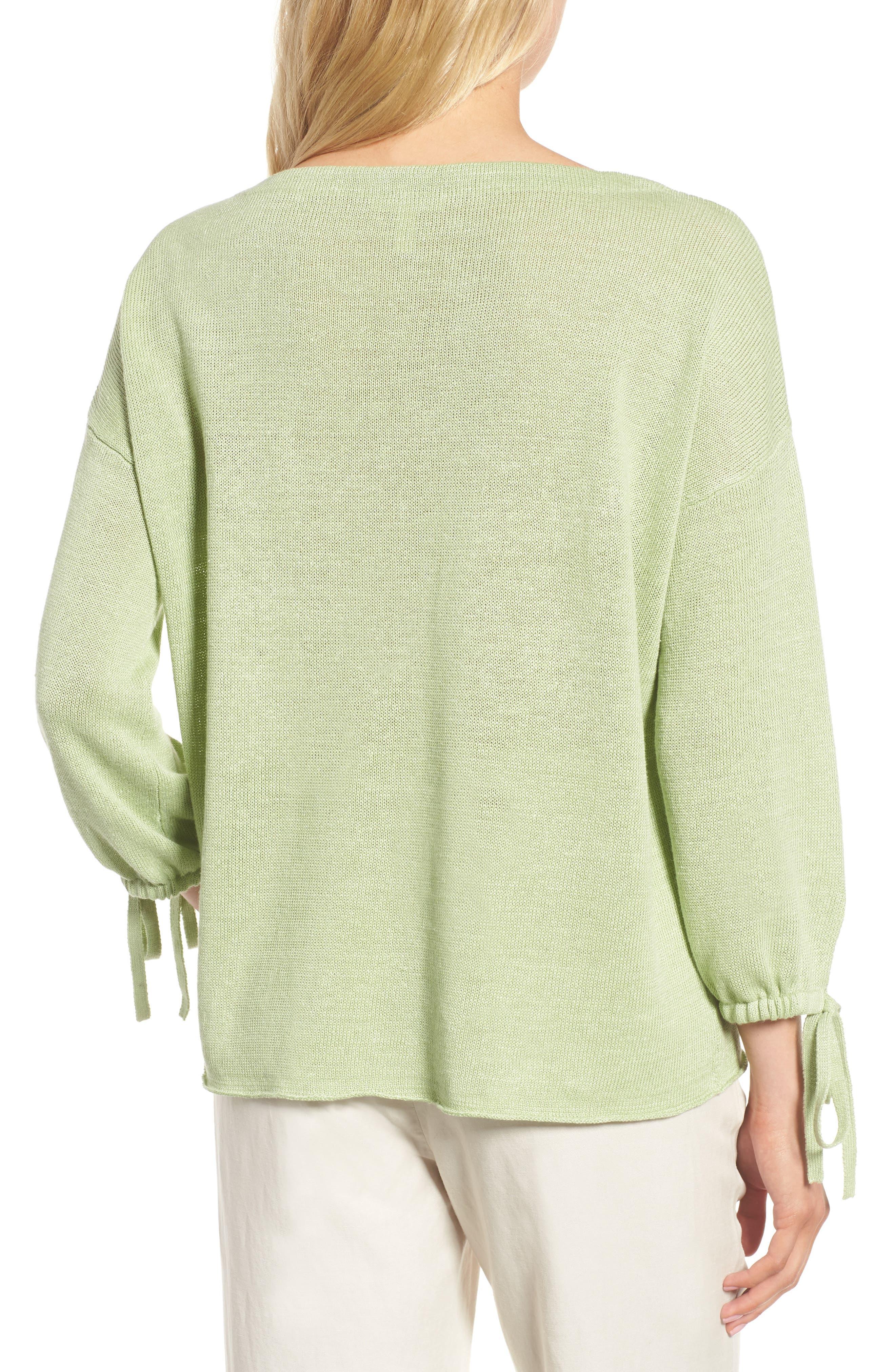 Organic Linen Sweater,                             Alternate thumbnail 7, color,
