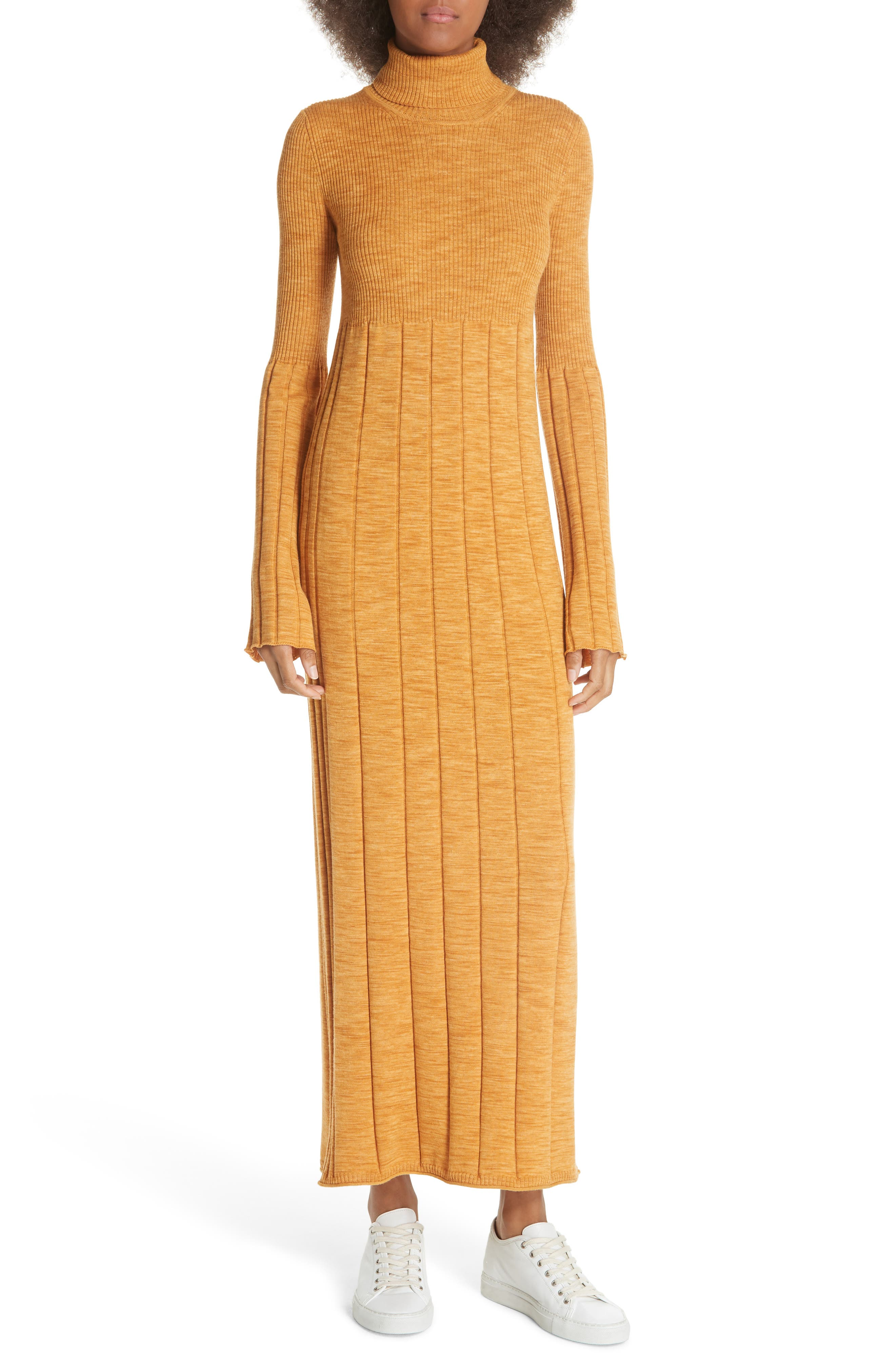 Clementine Ribbed Space Dye Wool Dress,                         Main,                         color, 700