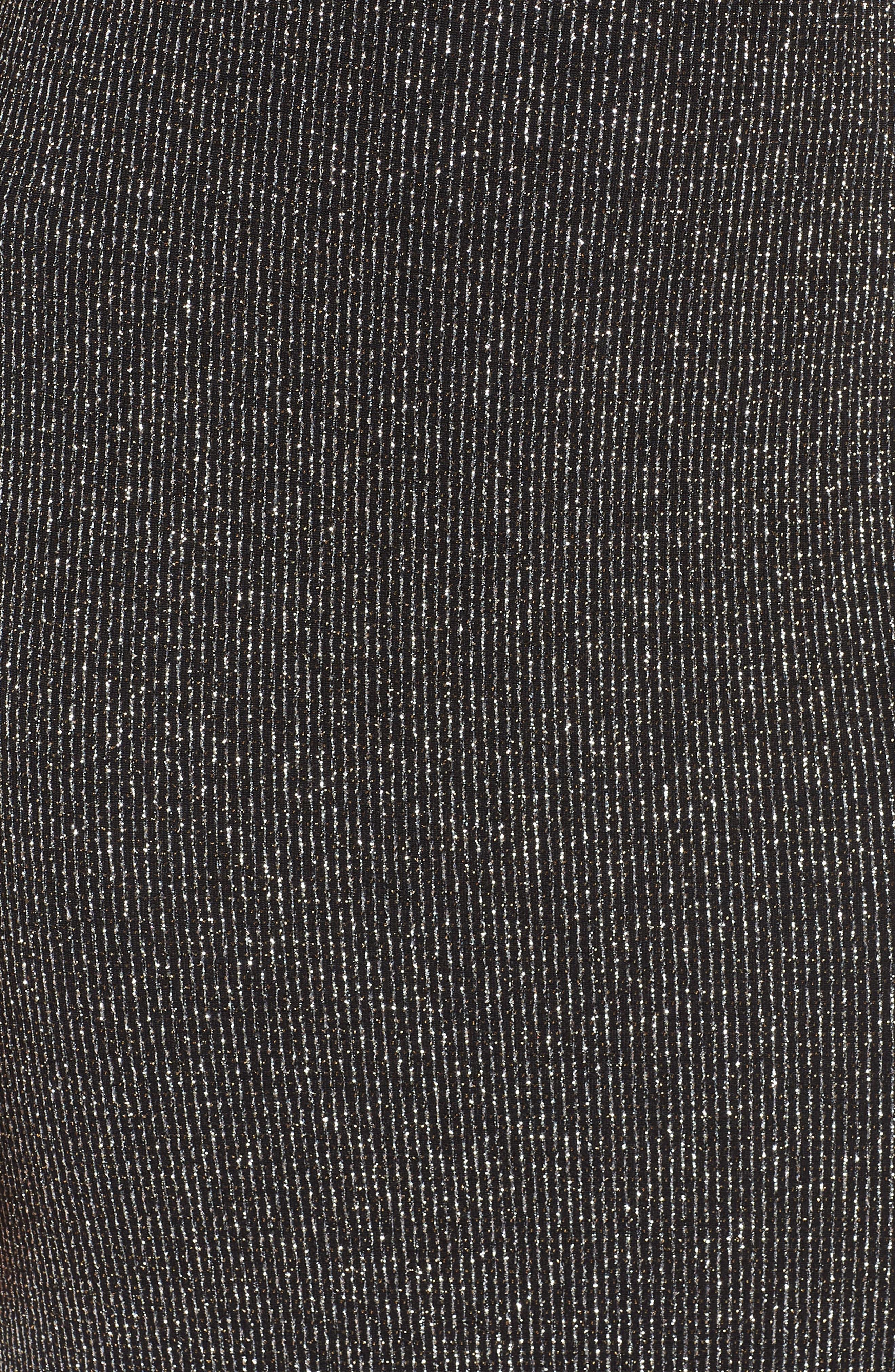 Blouson Gown,                             Alternate thumbnail 6, color,                             BLACK