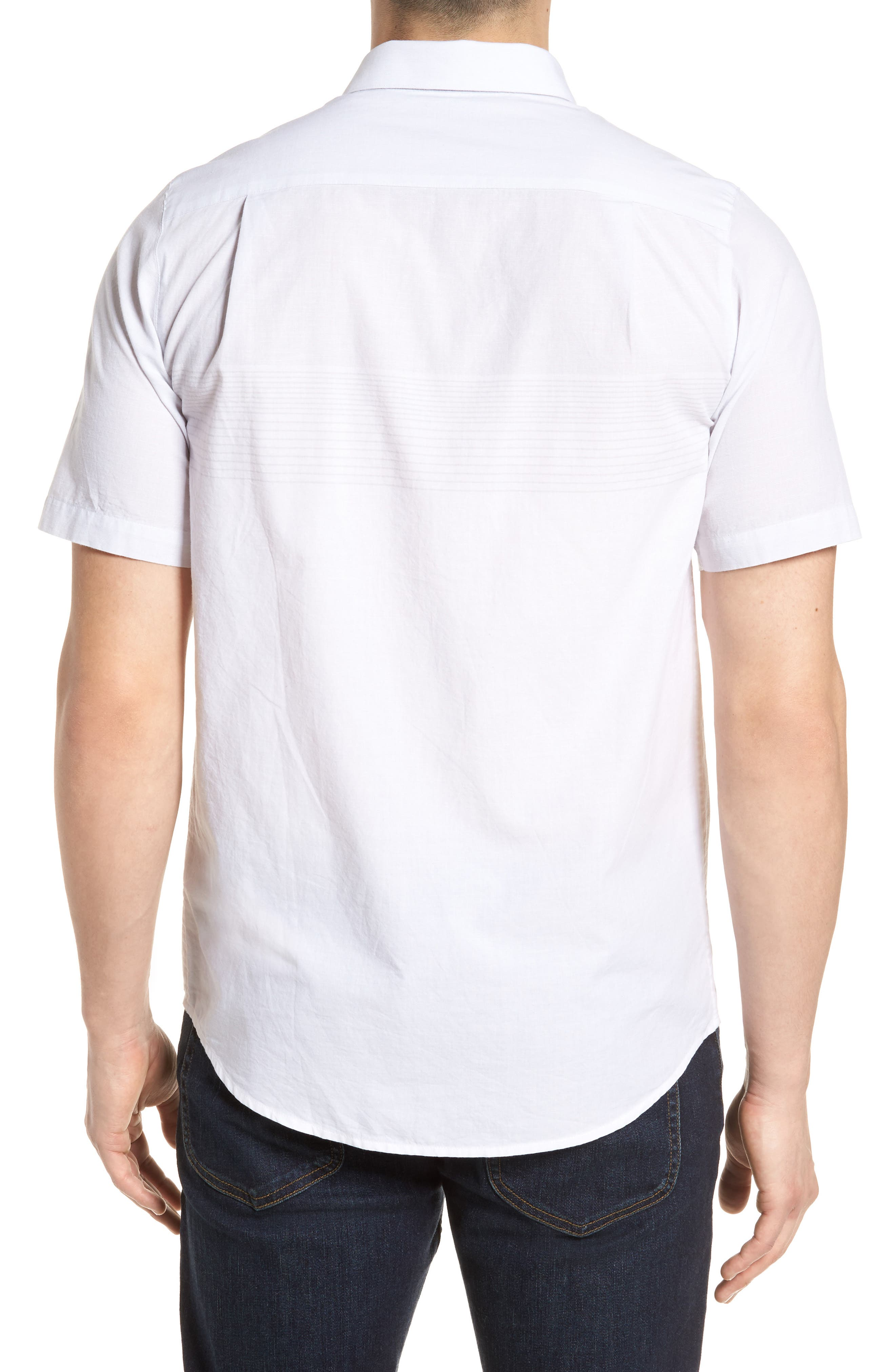 Charlie Pinstripe Woven Shirt,                             Alternate thumbnail 2, color,                             100