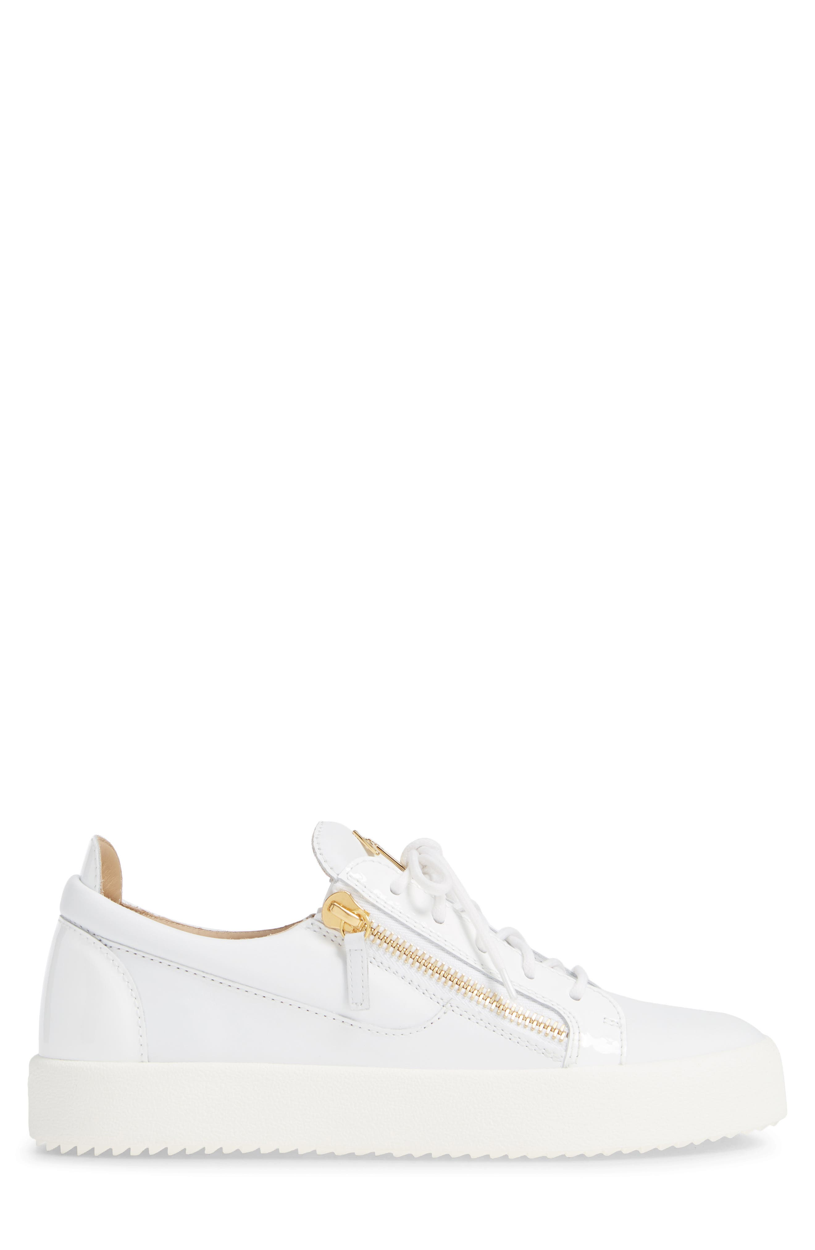 Low Top Sneaker,                             Alternate thumbnail 3, color,                             WHITE