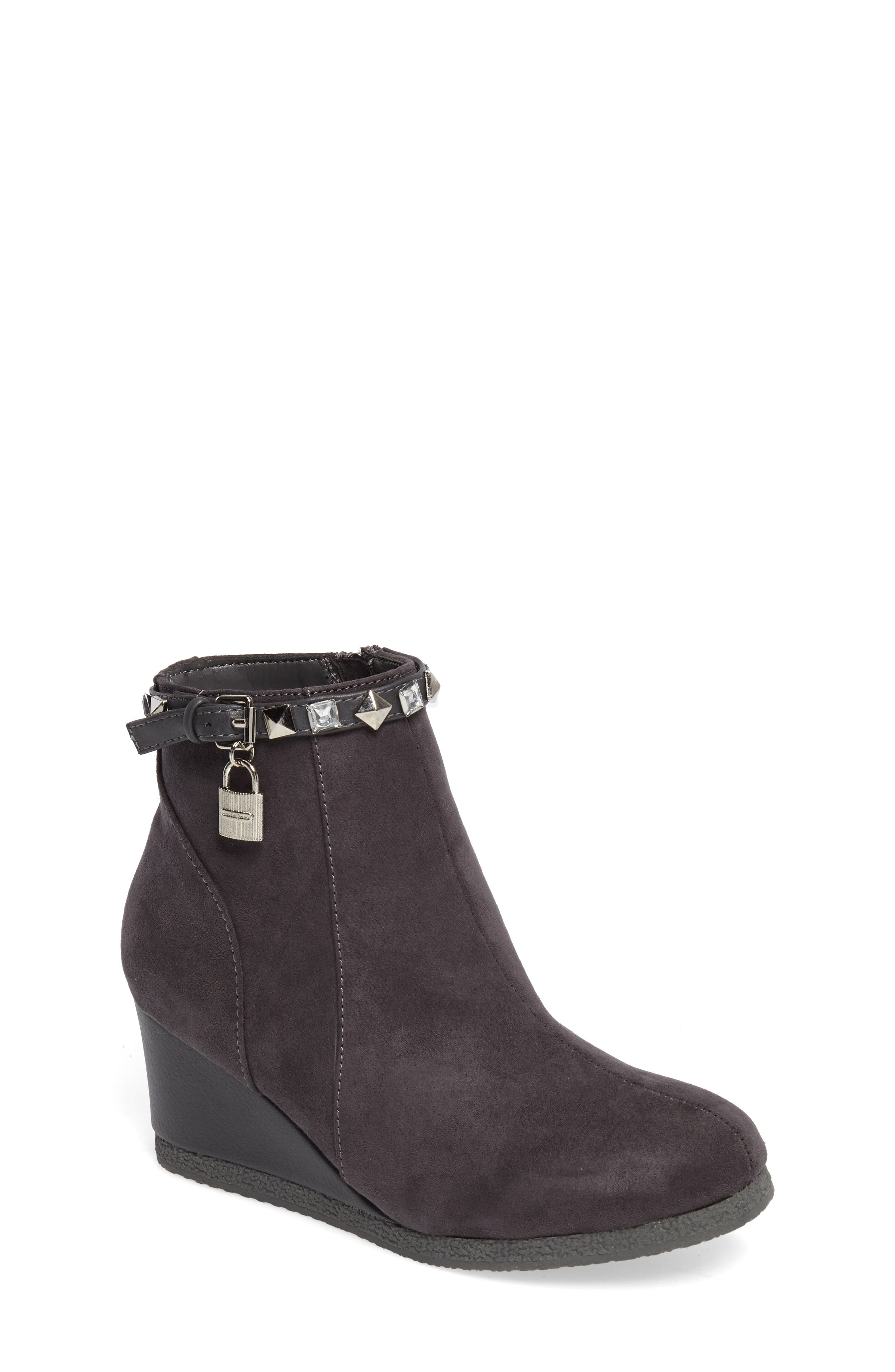 Cara Key Studded Wedge Bootie,                             Main thumbnail 2, color,