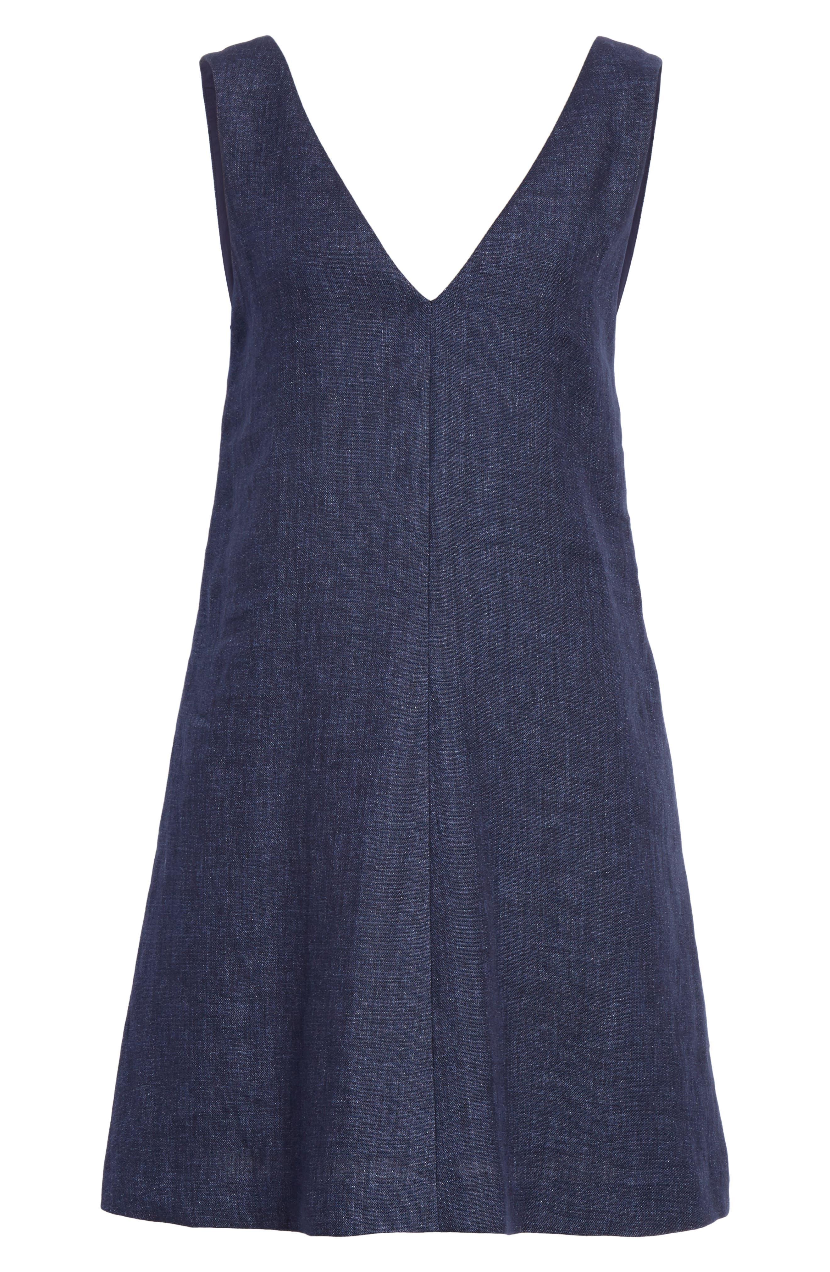 Linen Shift Dress,                             Alternate thumbnail 12, color,
