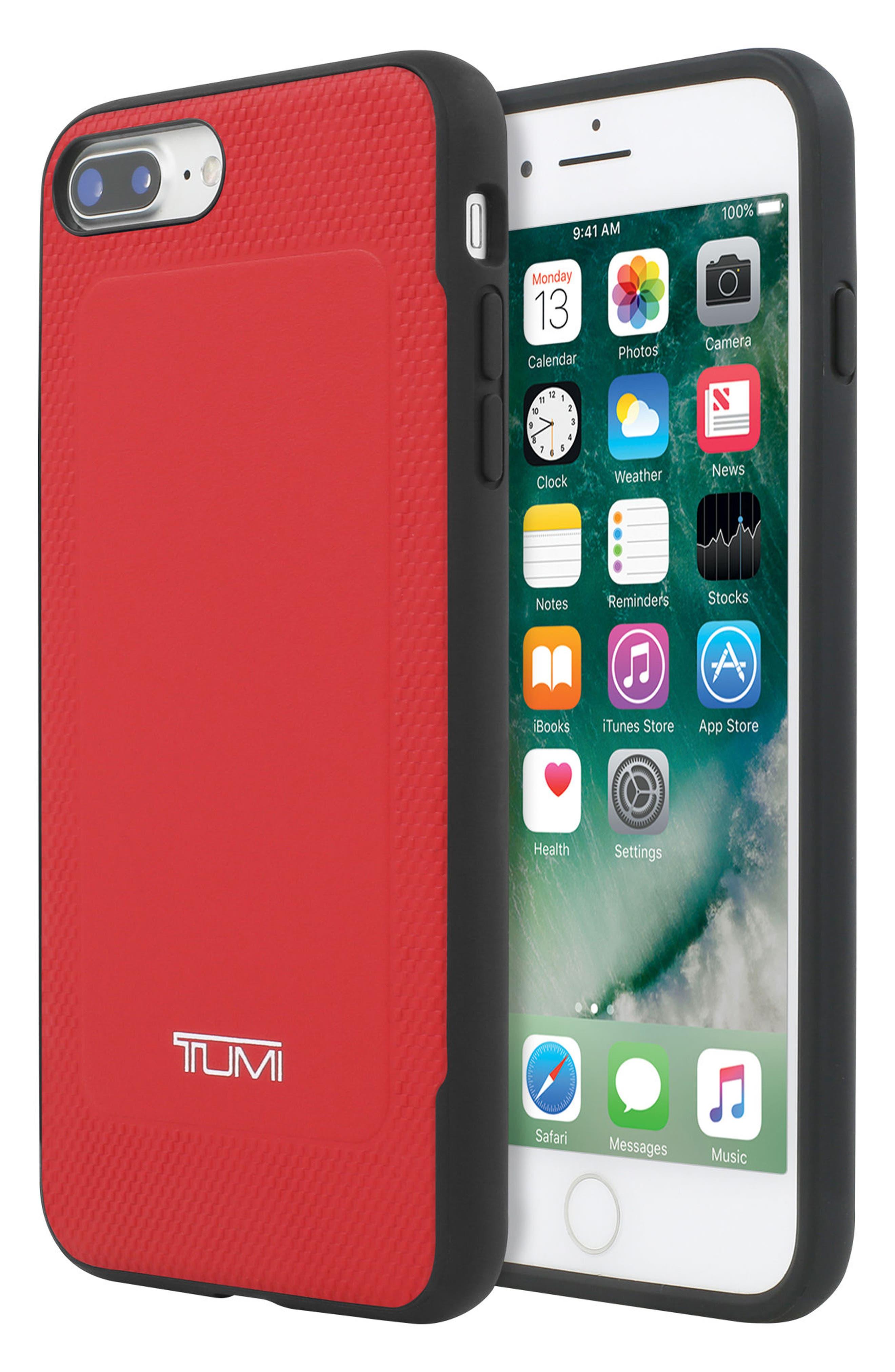 Leather iPhone 8 Plus Case,                             Alternate thumbnail 8, color,