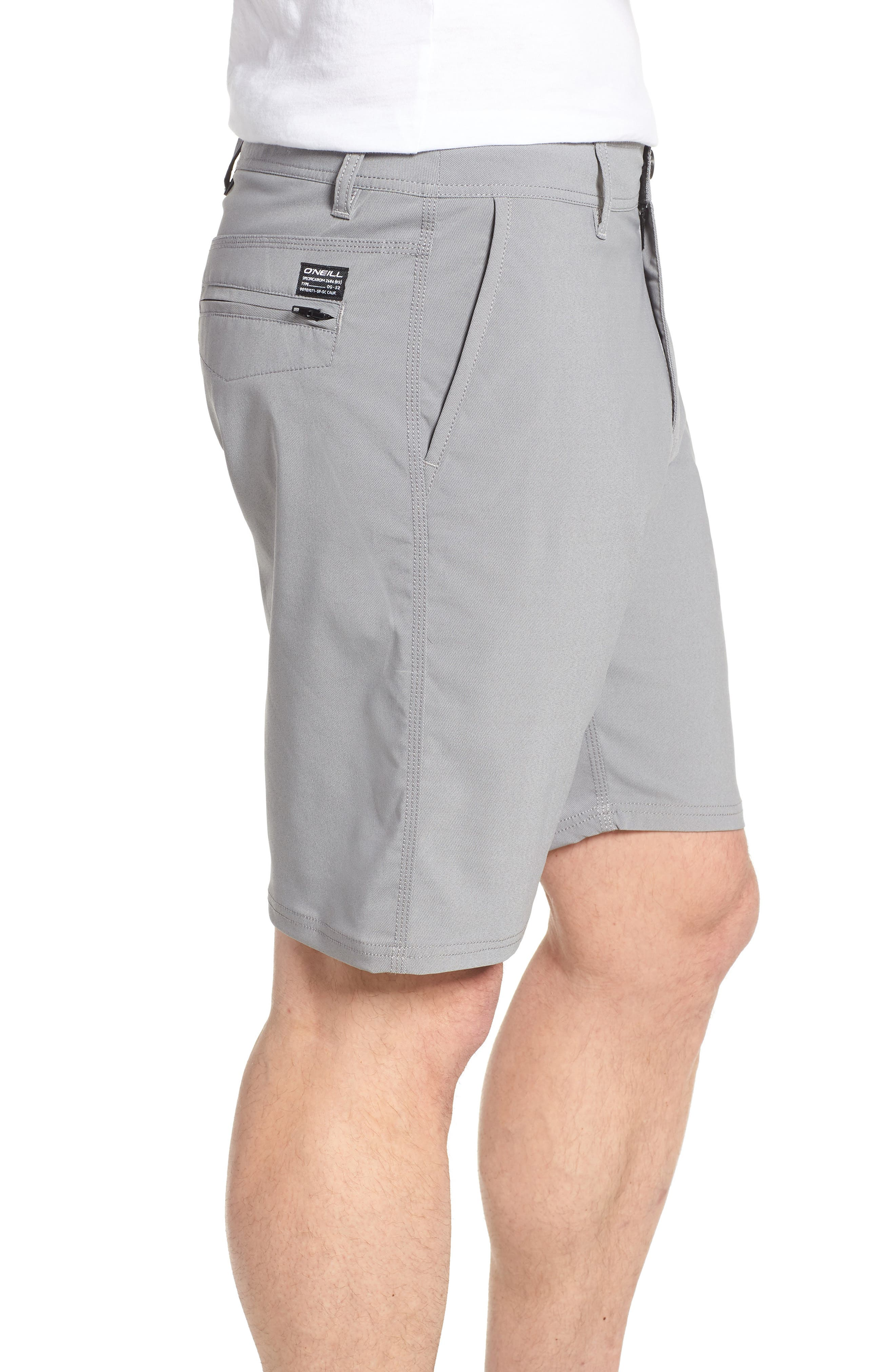 Stockton Hybrid Shorts,                             Alternate thumbnail 3, color,                             GREY
