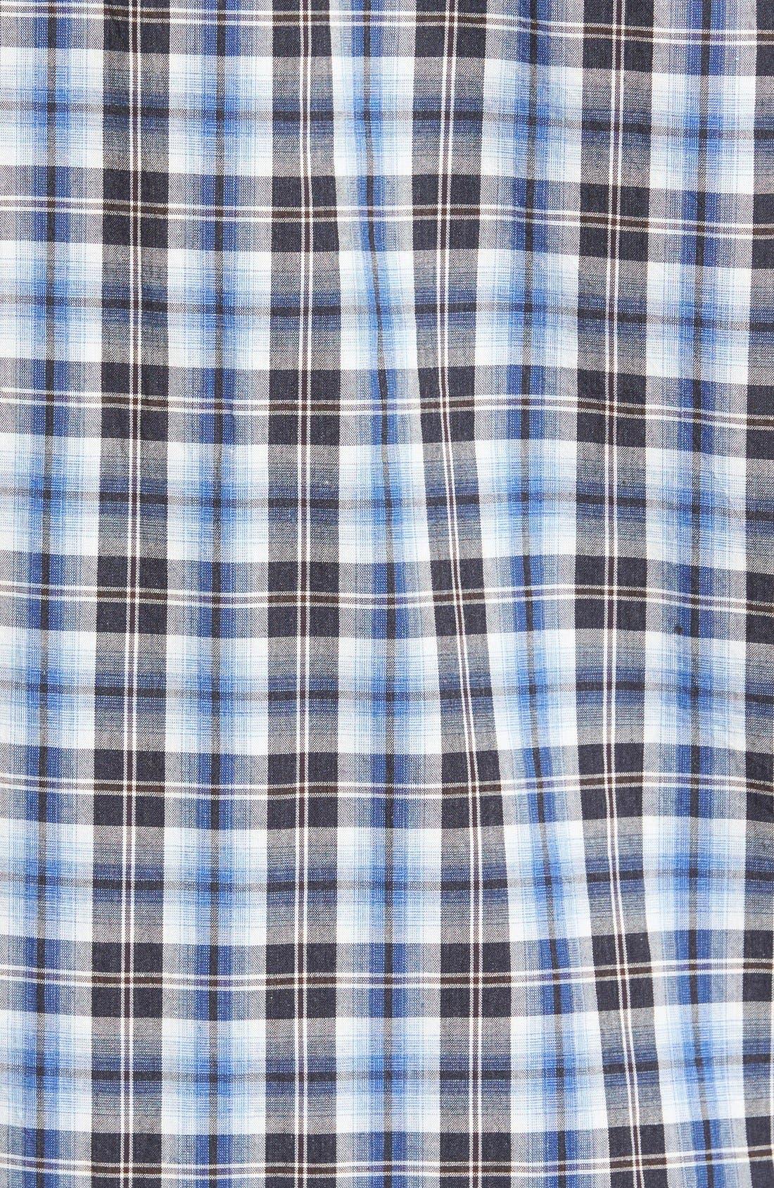 'Getafe' Regular Fit Short Sleeve Plaid Sport Shirt,                             Alternate thumbnail 2, color,                             450