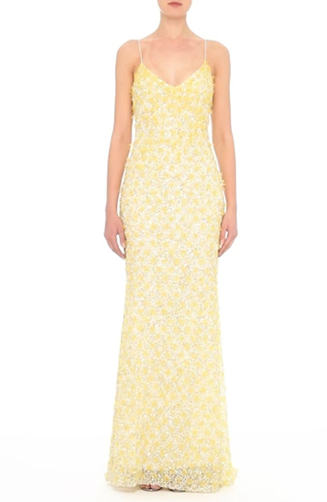 Badgley Mischka Couture Embellished Gown,                             Alternate thumbnail 7, color,                             700