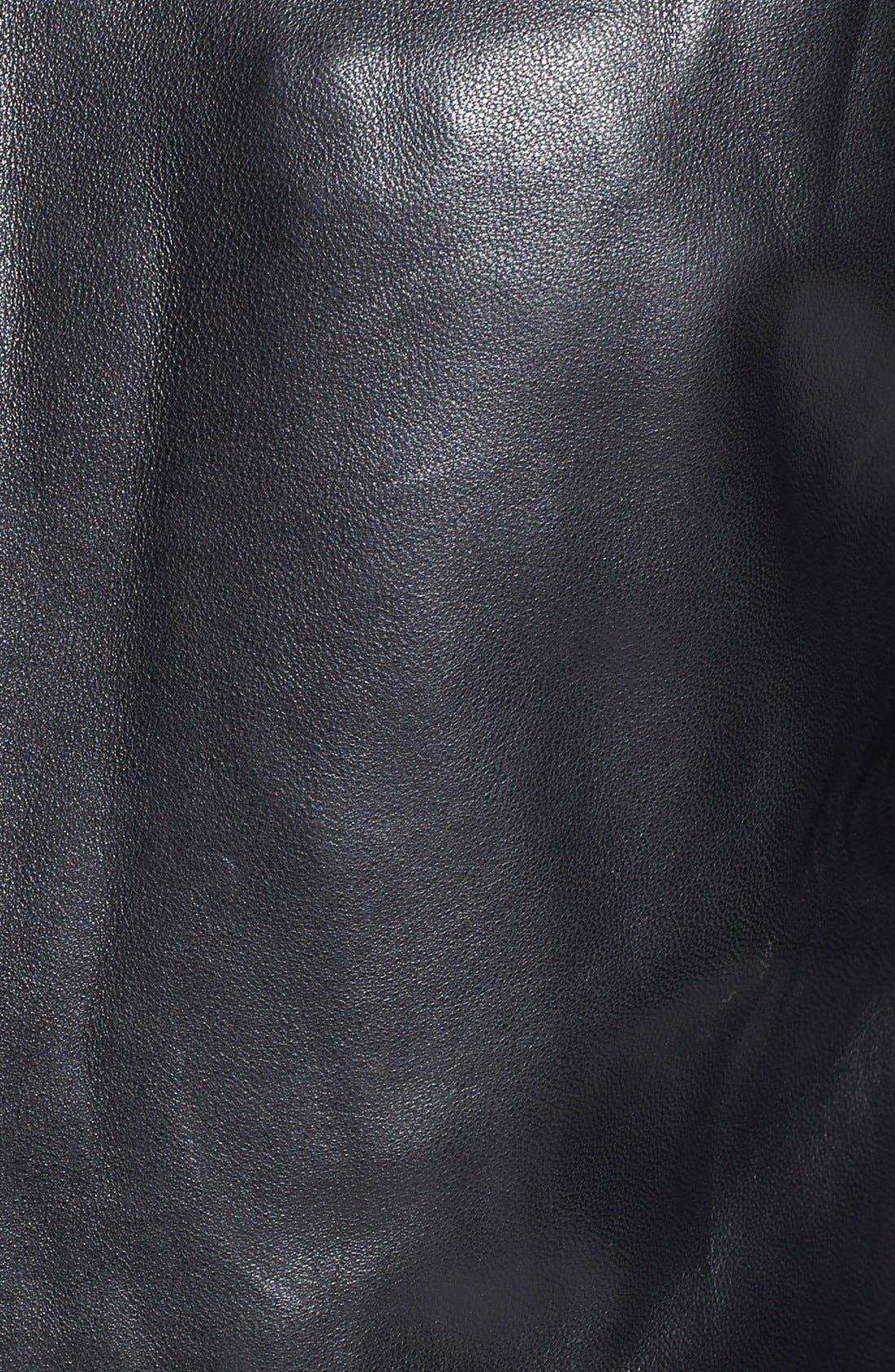'Bane' Sheepskin Leather Jacket,                             Alternate thumbnail 2, color,                             001