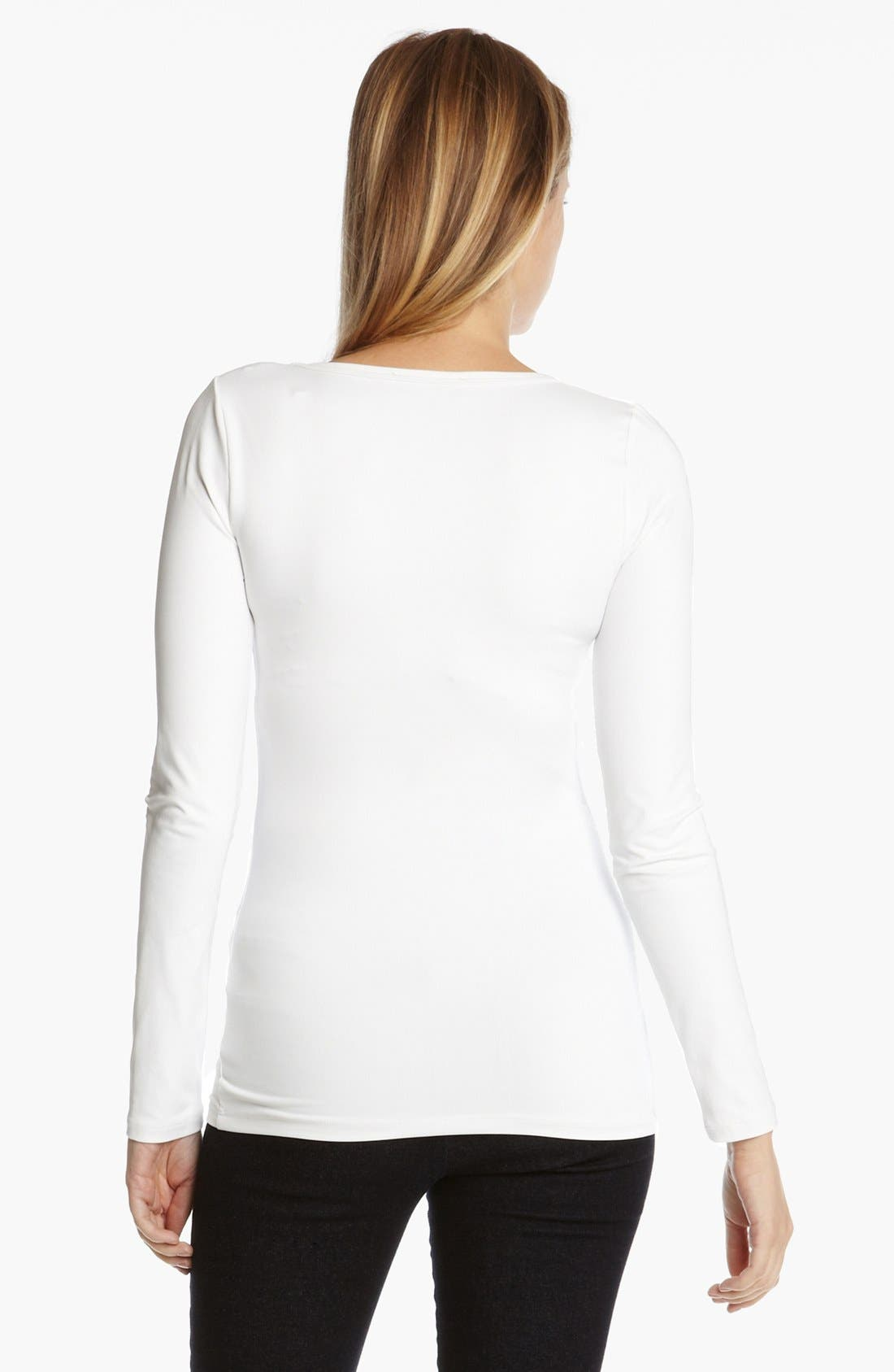 Supersoft Long Sleeve Tee,                             Alternate thumbnail 2, color,                             100