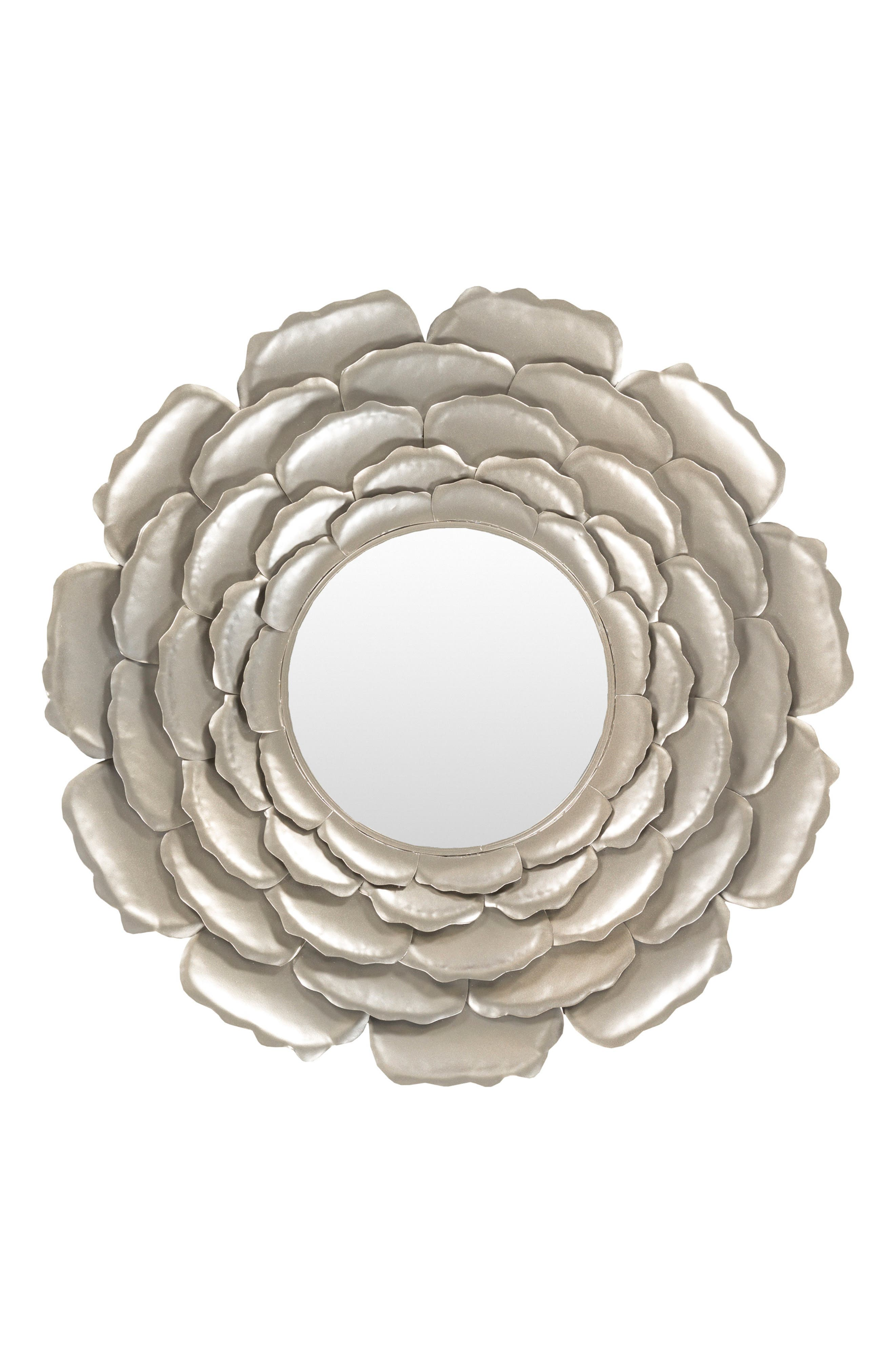 Flower Mirror,                             Main thumbnail 1, color,                             CHAMPAGNE