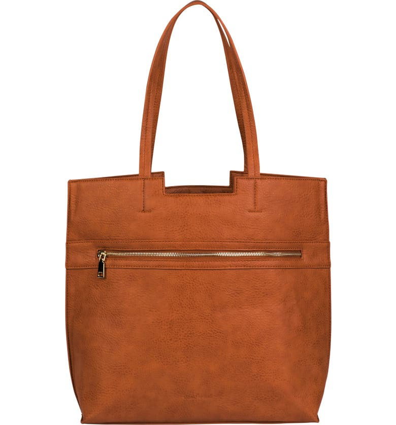 Urban Originals TIMELESS VEGAN LEATHER TOTE - BROWN