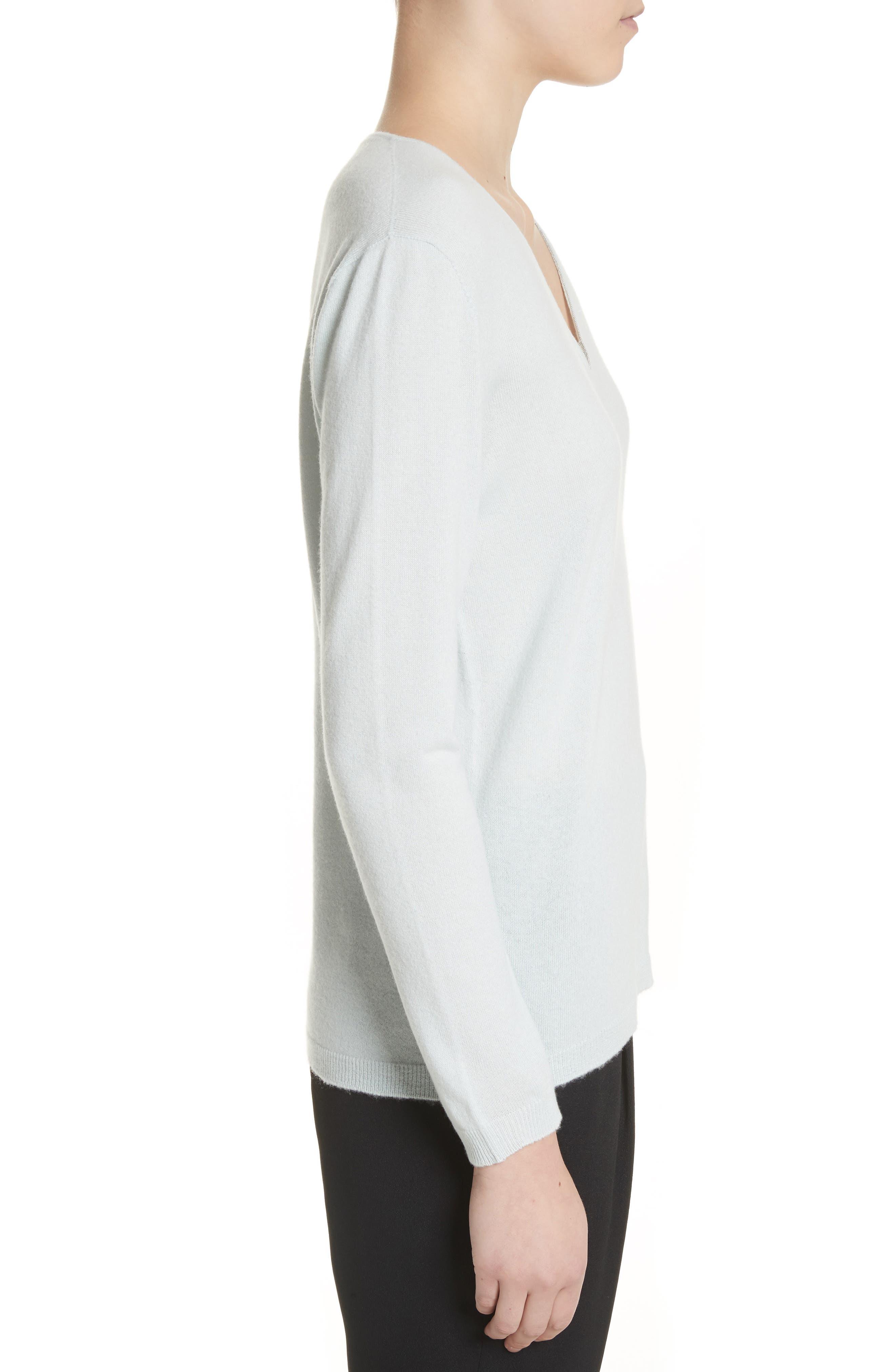 V-Neck Cashmere Sweater,                             Alternate thumbnail 5, color,