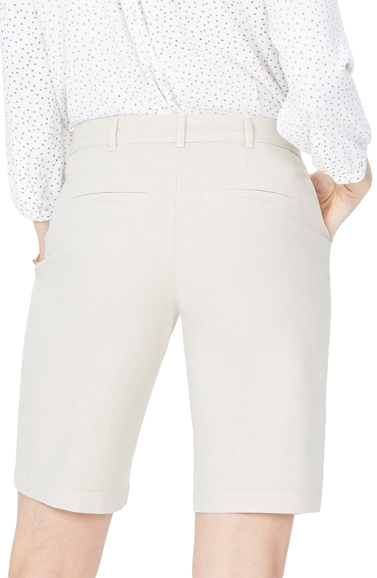 Stretch Twill Bermuda Shorts,                             Alternate thumbnail 2, color,                             FEATHER