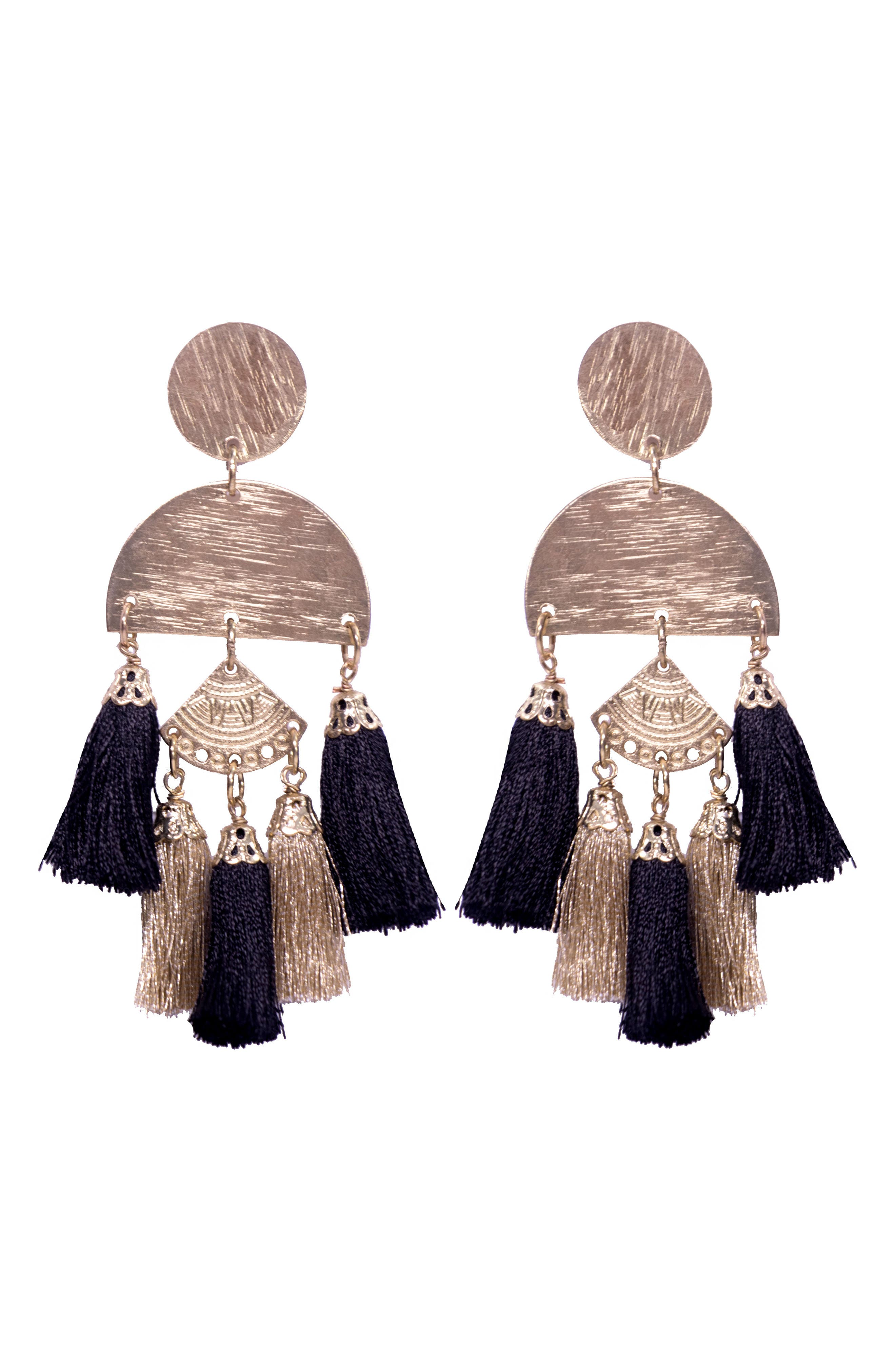 Bali Tassel Earrings,                             Main thumbnail 1, color,