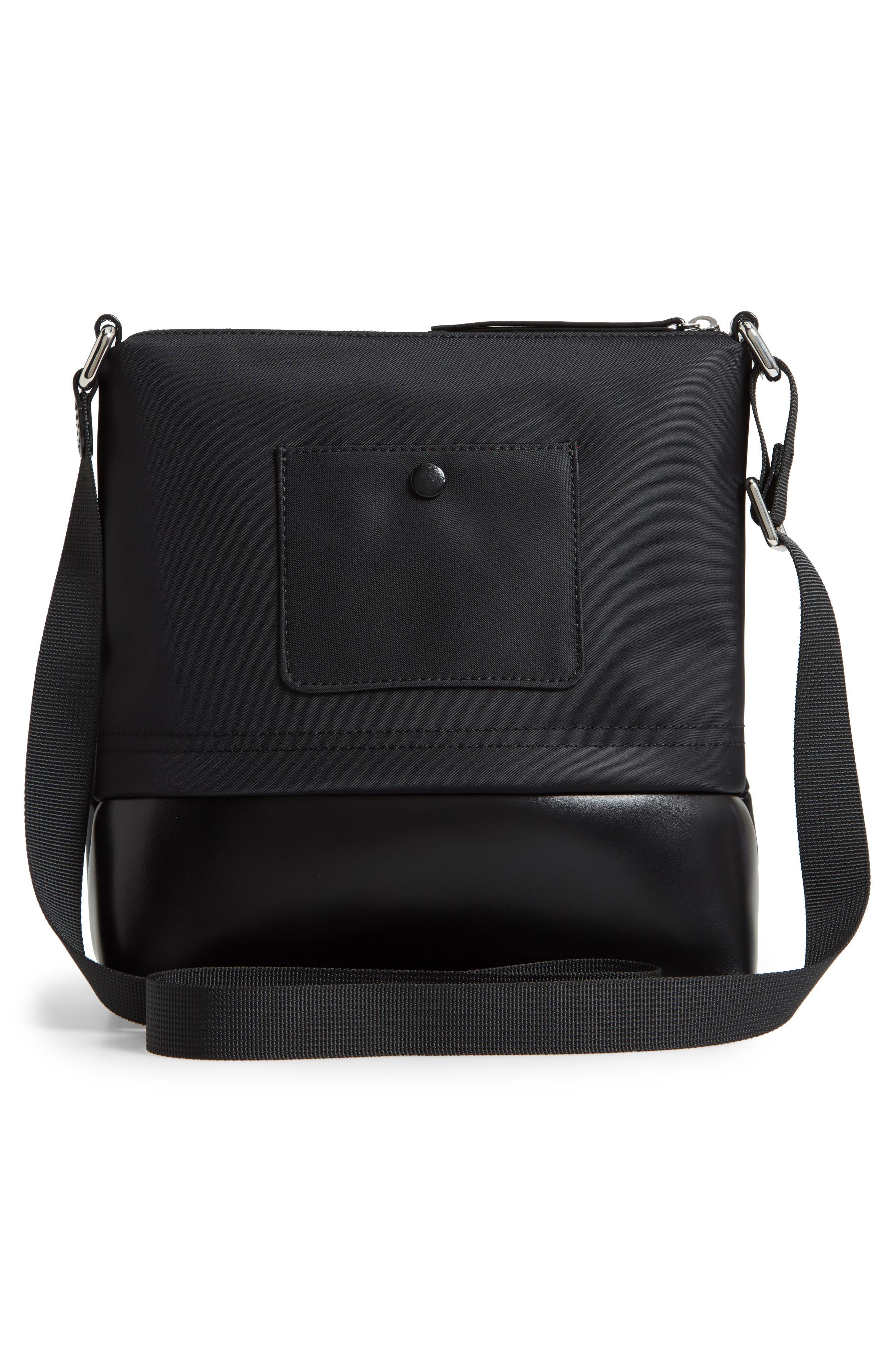 Wanda Nylon Sport RFID Travel Crossbody Bag,                             Alternate thumbnail 3, color,                             BLACK