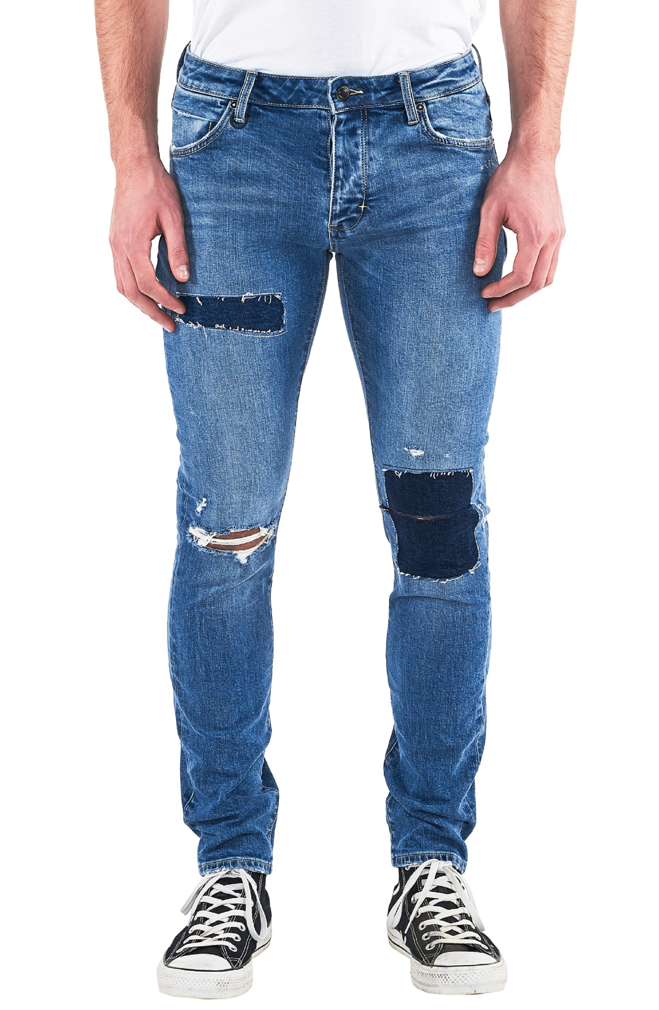 Iggy Skinny Fit Jeans,                             Main thumbnail 1, color,                             TRAIN