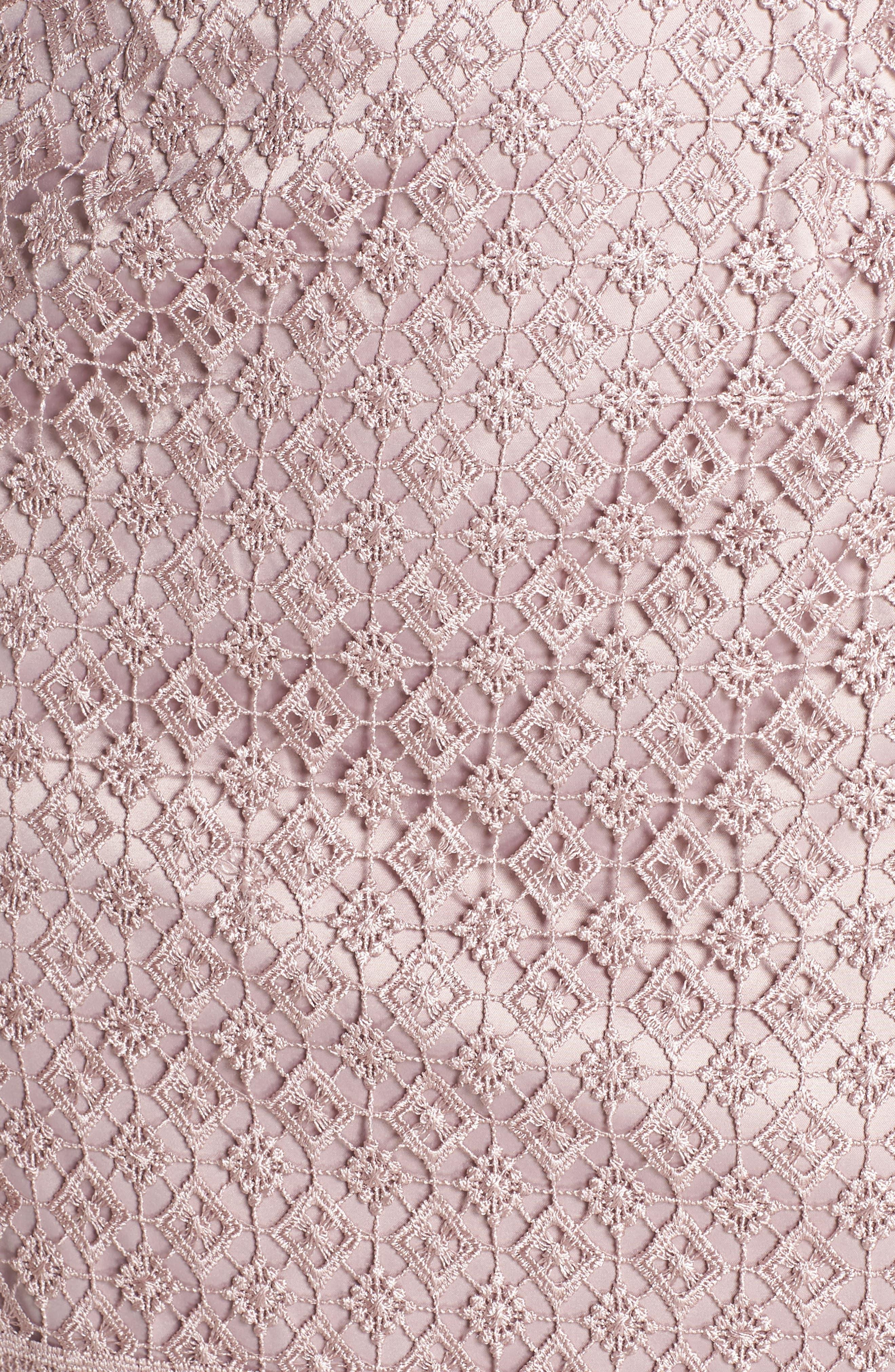 Guipure Lace Dress,                             Alternate thumbnail 6, color,                             680