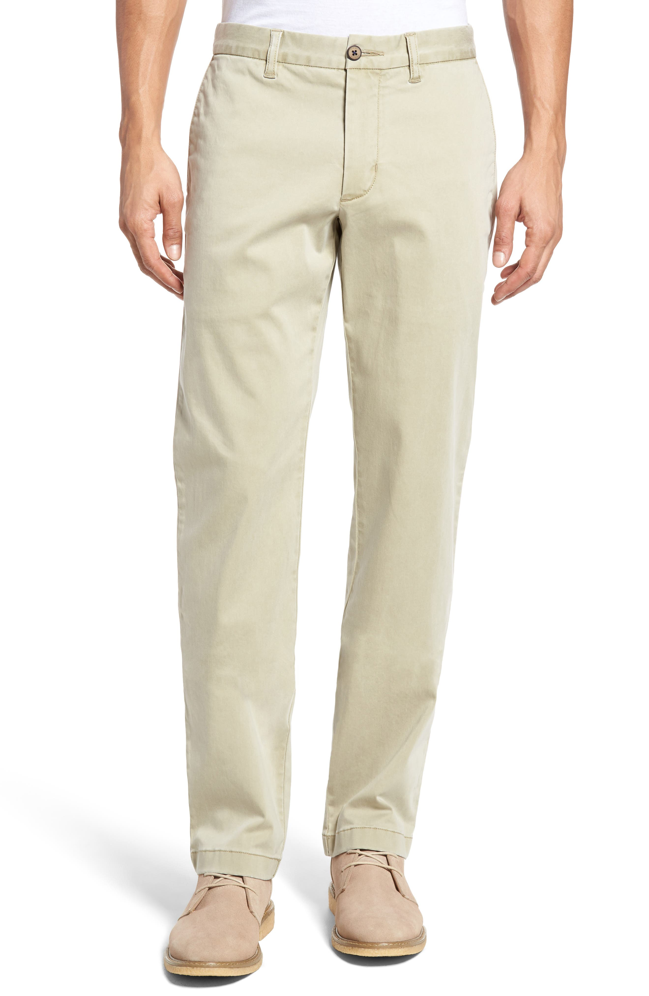 Boracay Flat Front Pants,                             Main thumbnail 1, color,                             KHAKI