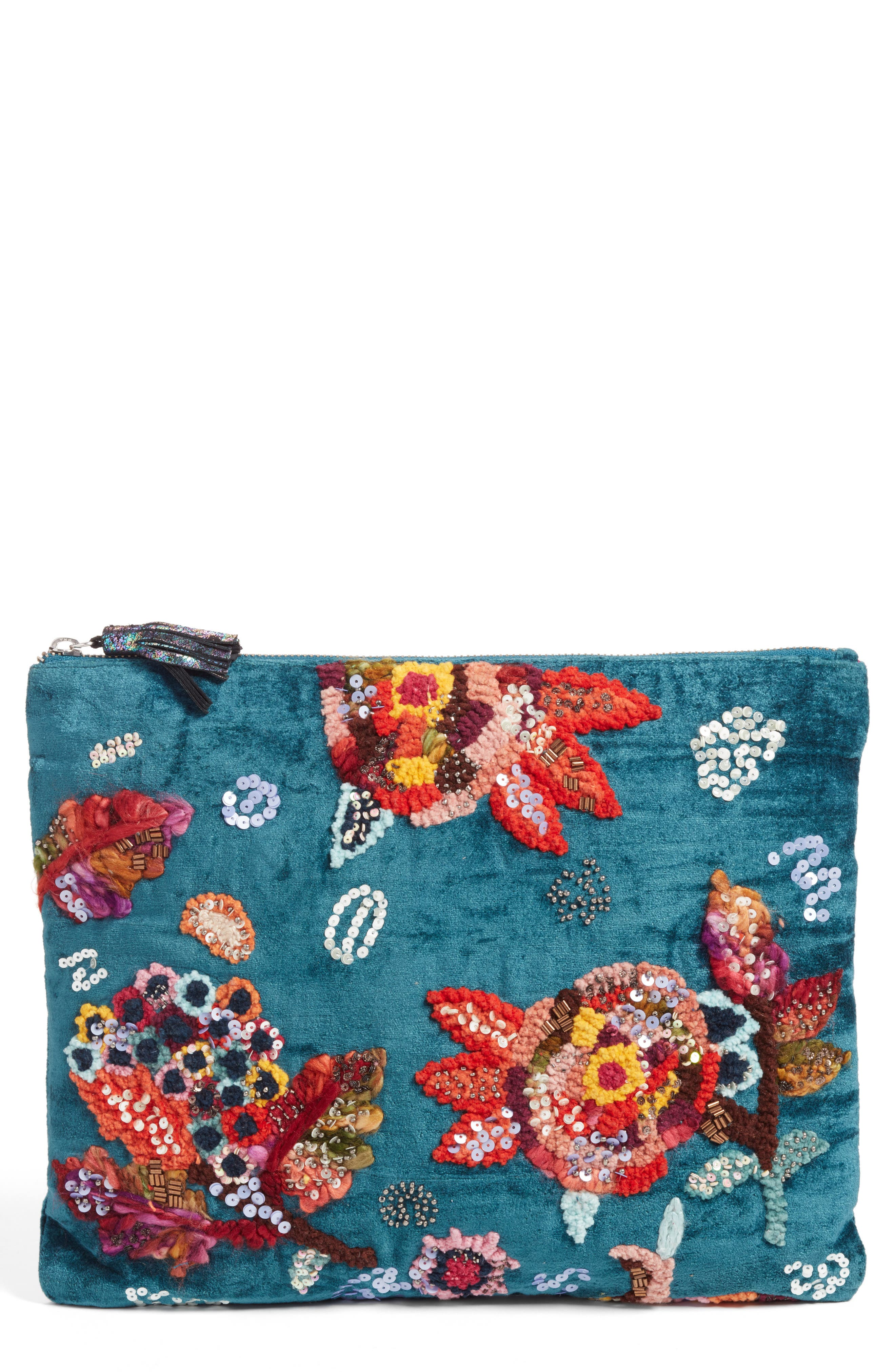 Embellished Clutch,                         Main,                         color, 400