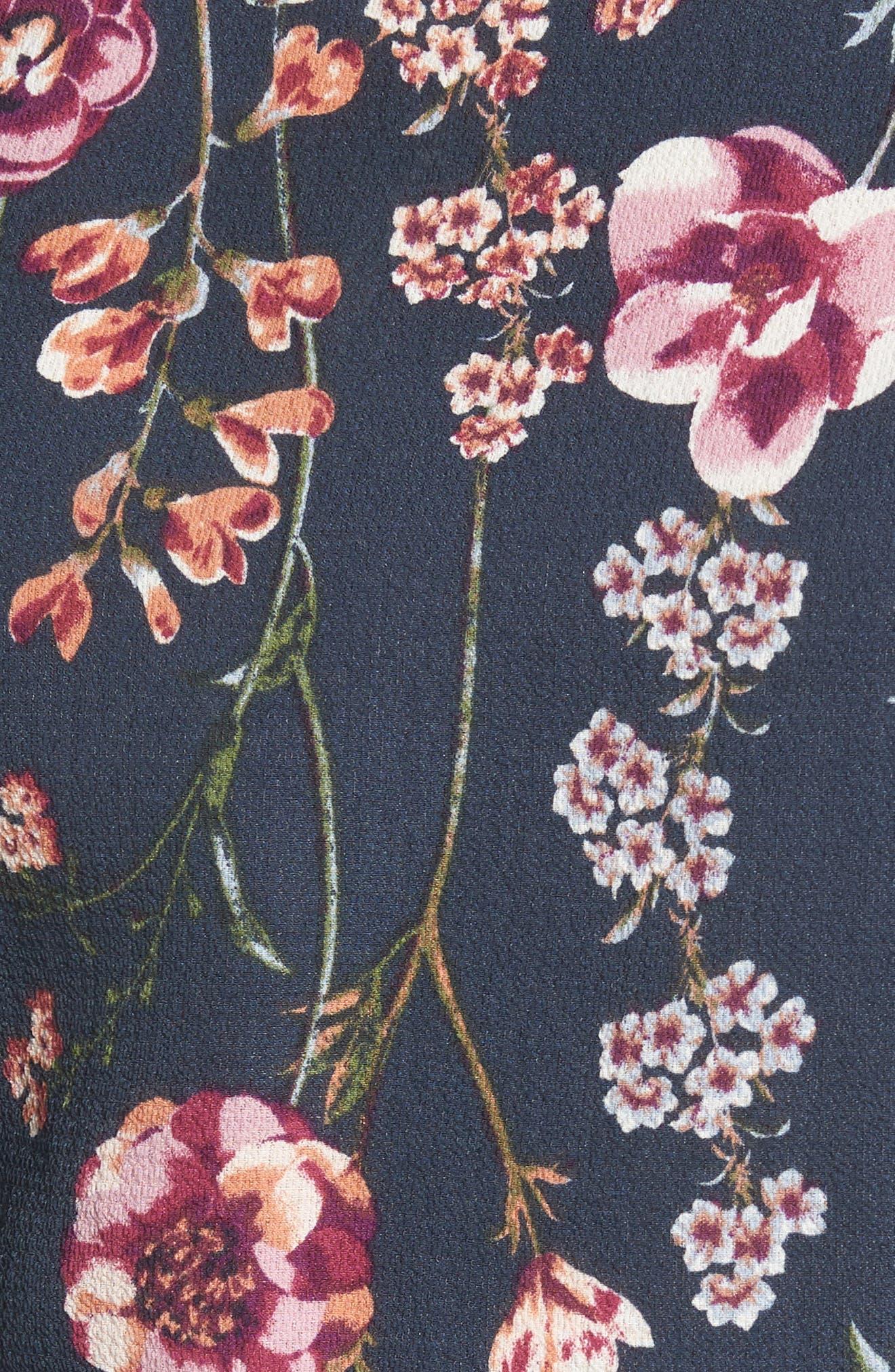 Asymmetrical Tie Front Stretch Crepe Blouse,                             Alternate thumbnail 14, color,