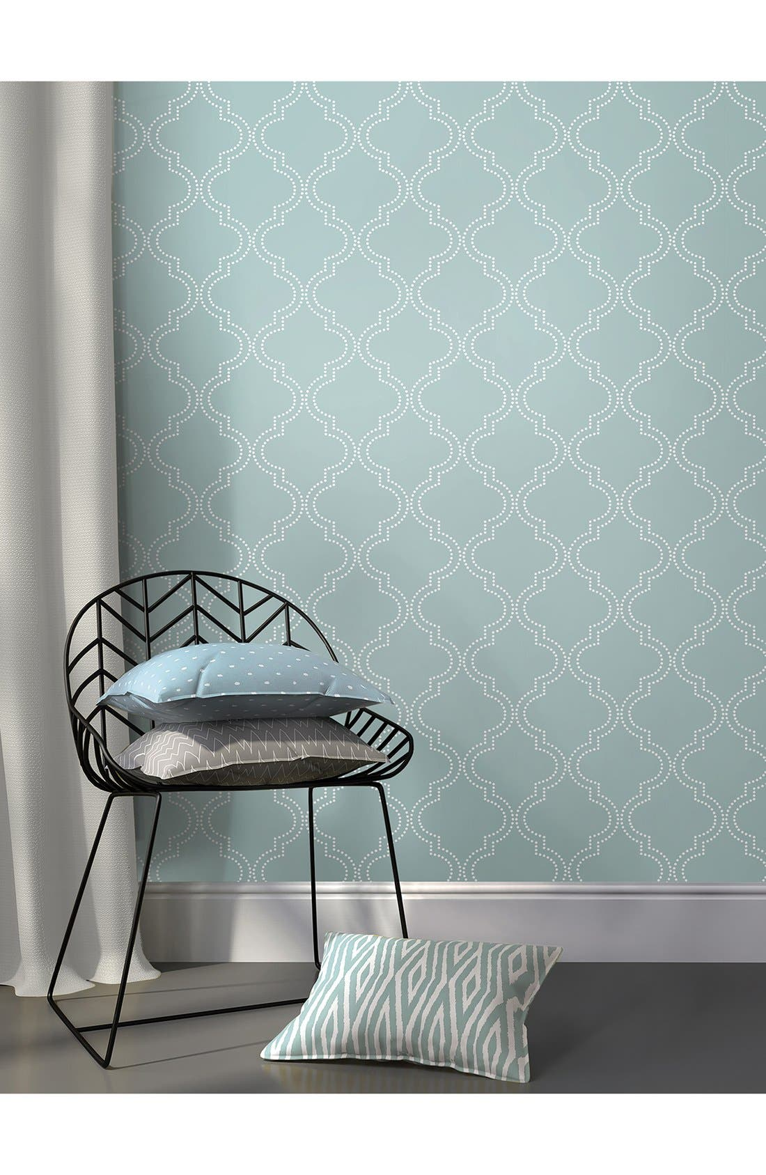 'Quatrefoil'  Peel & Stick Vinyl Wallpaper,                             Alternate thumbnail 2, color,                             401