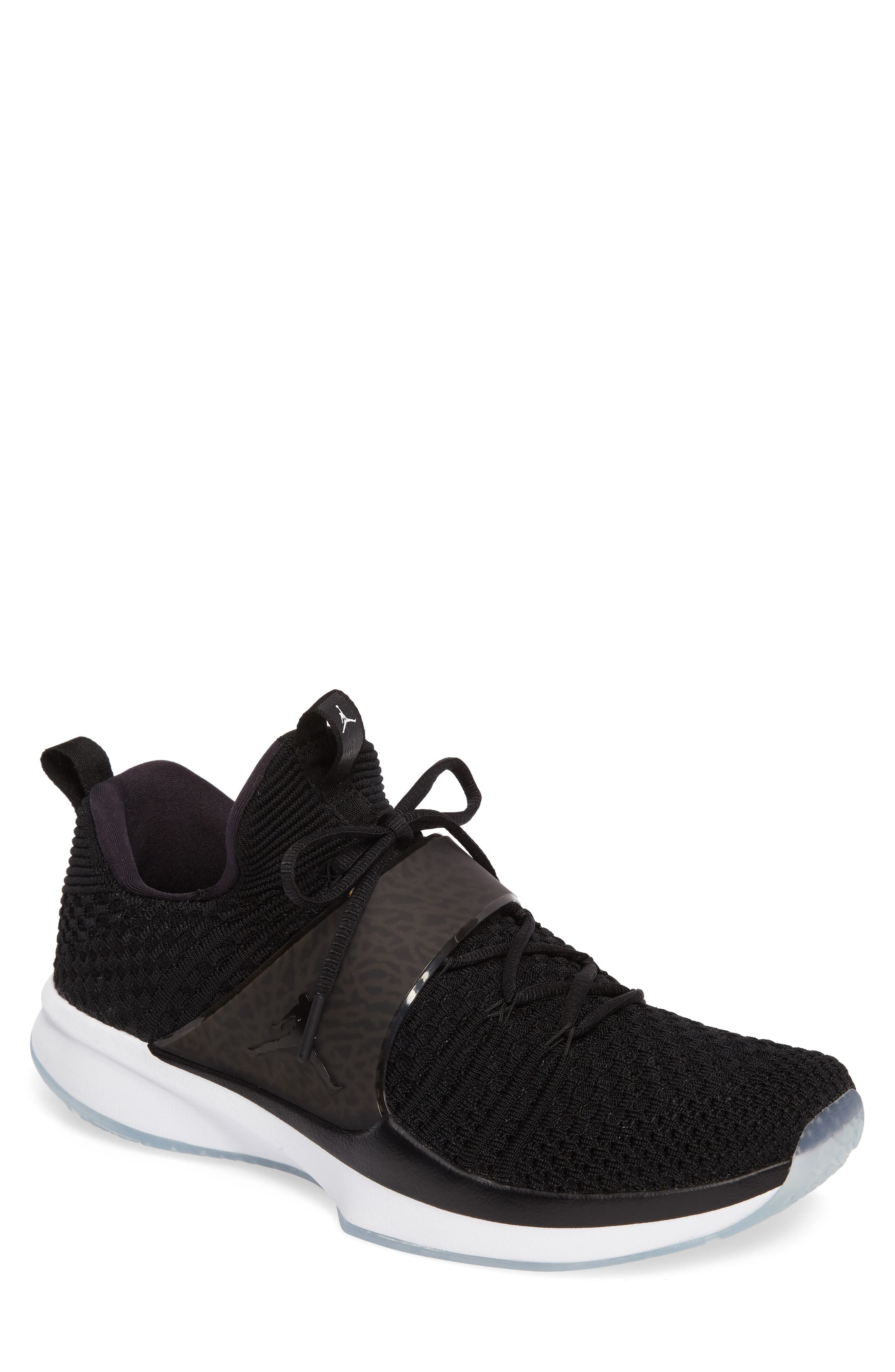 Jordan Flyknit Trainer 2 Low Sneaker,                             Main thumbnail 1, color,
