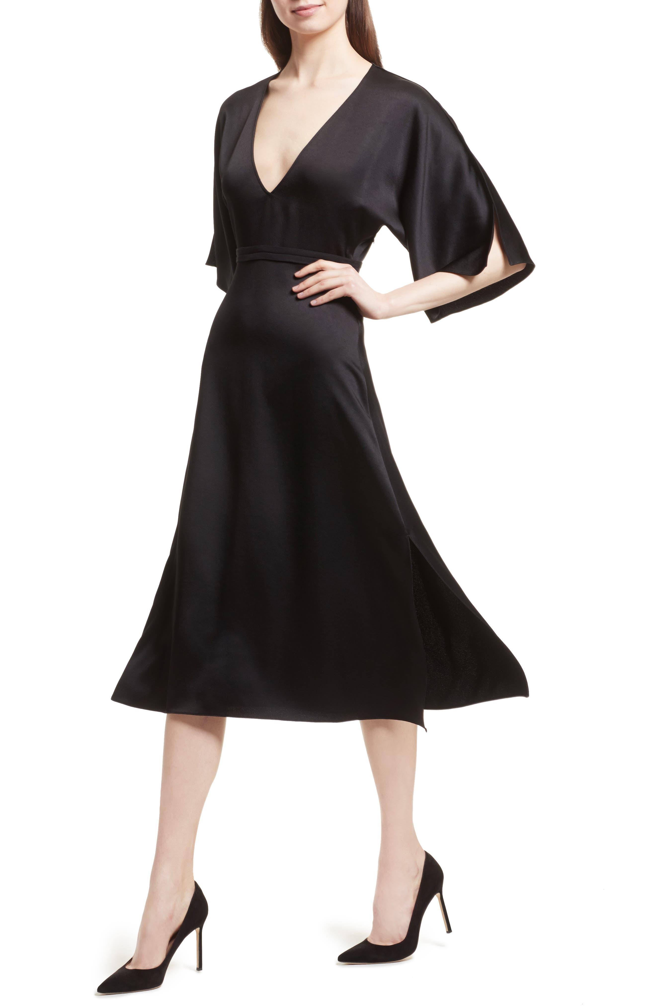 Kensington Midi Dress,                             Alternate thumbnail 4, color,                             001