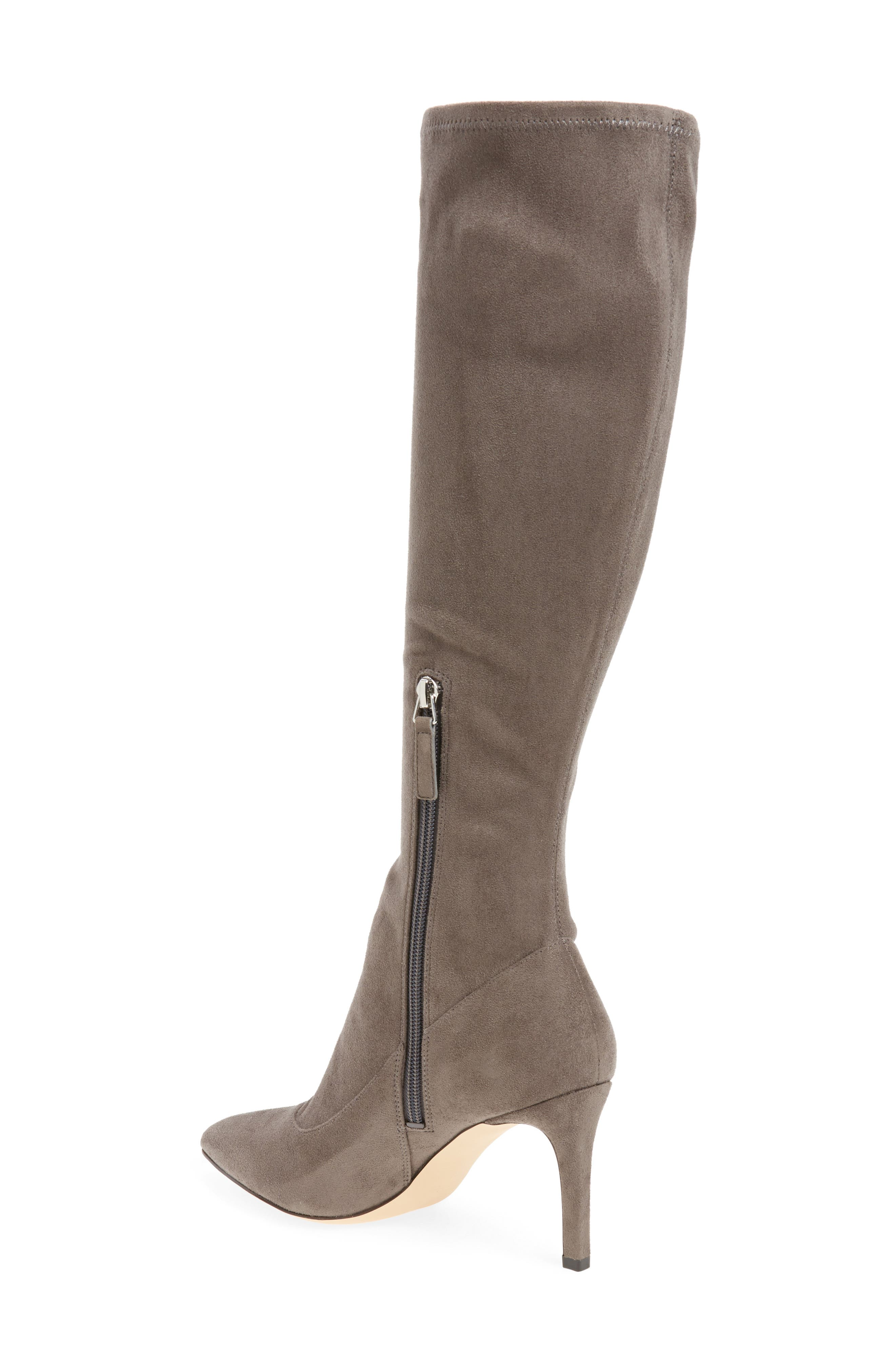 Carrara Knee High Pointy Toe Boot,                             Alternate thumbnail 4, color,