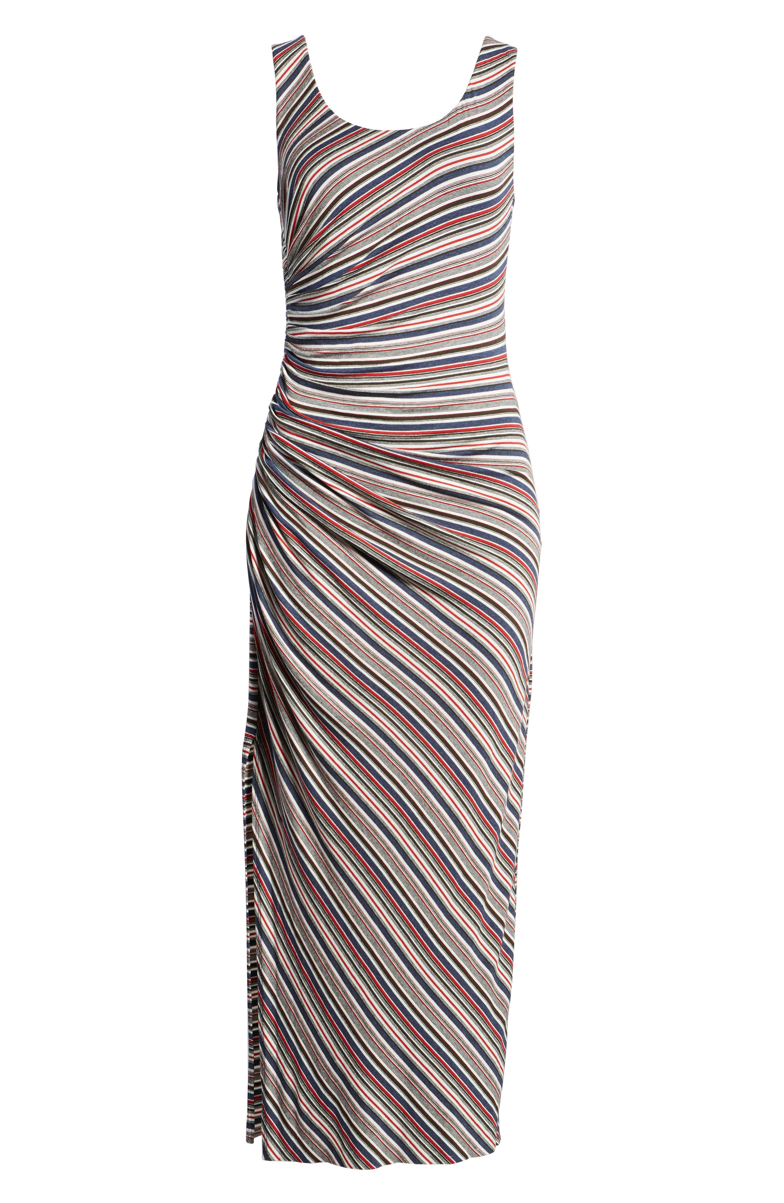 Duststorm Stripe Maxi Tank Dress,                             Alternate thumbnail 7, color,                             411